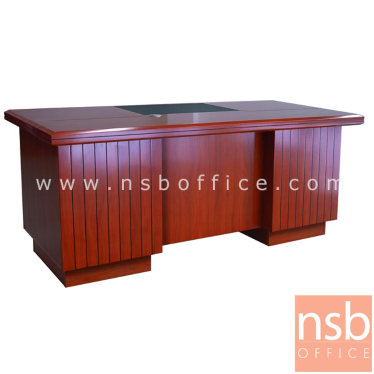 A06A121:โต๊ะผู้บริหารทรงตรง 3 ลิ้นชัก รุ่น Byron (ไบรอน) ขนาด 180W cm. พร้อมรางคีย์บอร์ด