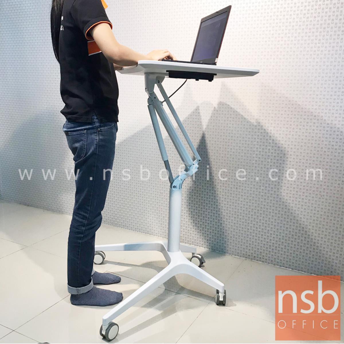 โต๊ะล้อเลื่อน presenter แบบยืน ปรับสูงต่ำได้   โครงขาอลูมิเนียม