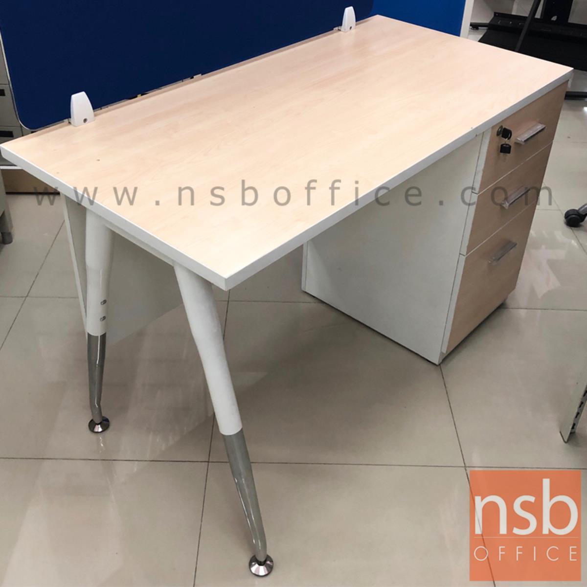 โต๊ะทำงาน 3 ลิ้นชักข้าง รุ่น MODERN-3 ขนาด 120W ,130W ,150W ,180 cm. ขาเหล็กวีคว่ำ