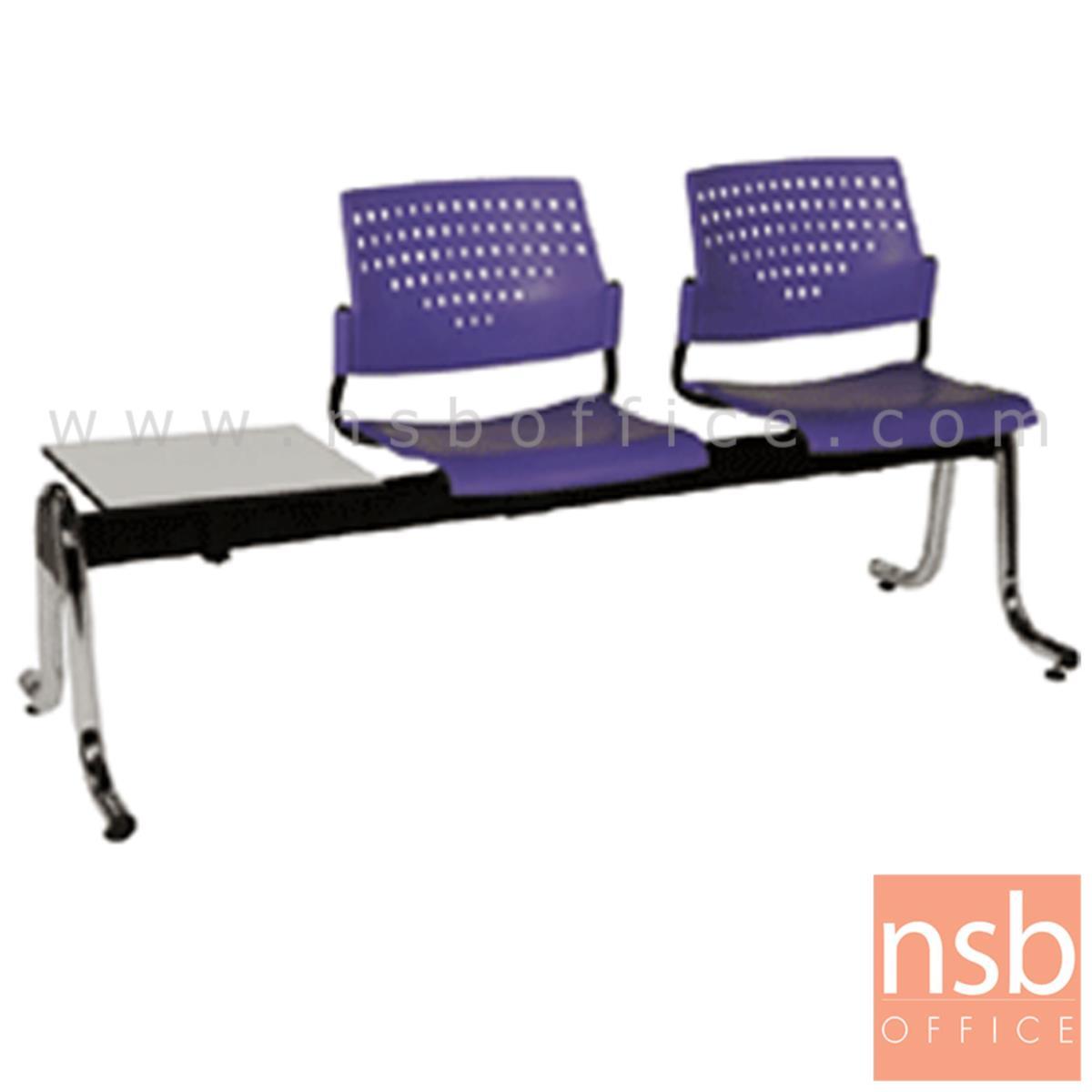 B06A052:เก้าอี้นั่งคอยเฟรมโพลี่ รุ่น B426 2 ,3 ที่นั่ง ขนาด 162W ,213W cm. พร้อมที่วางของ ขาเหล็ก