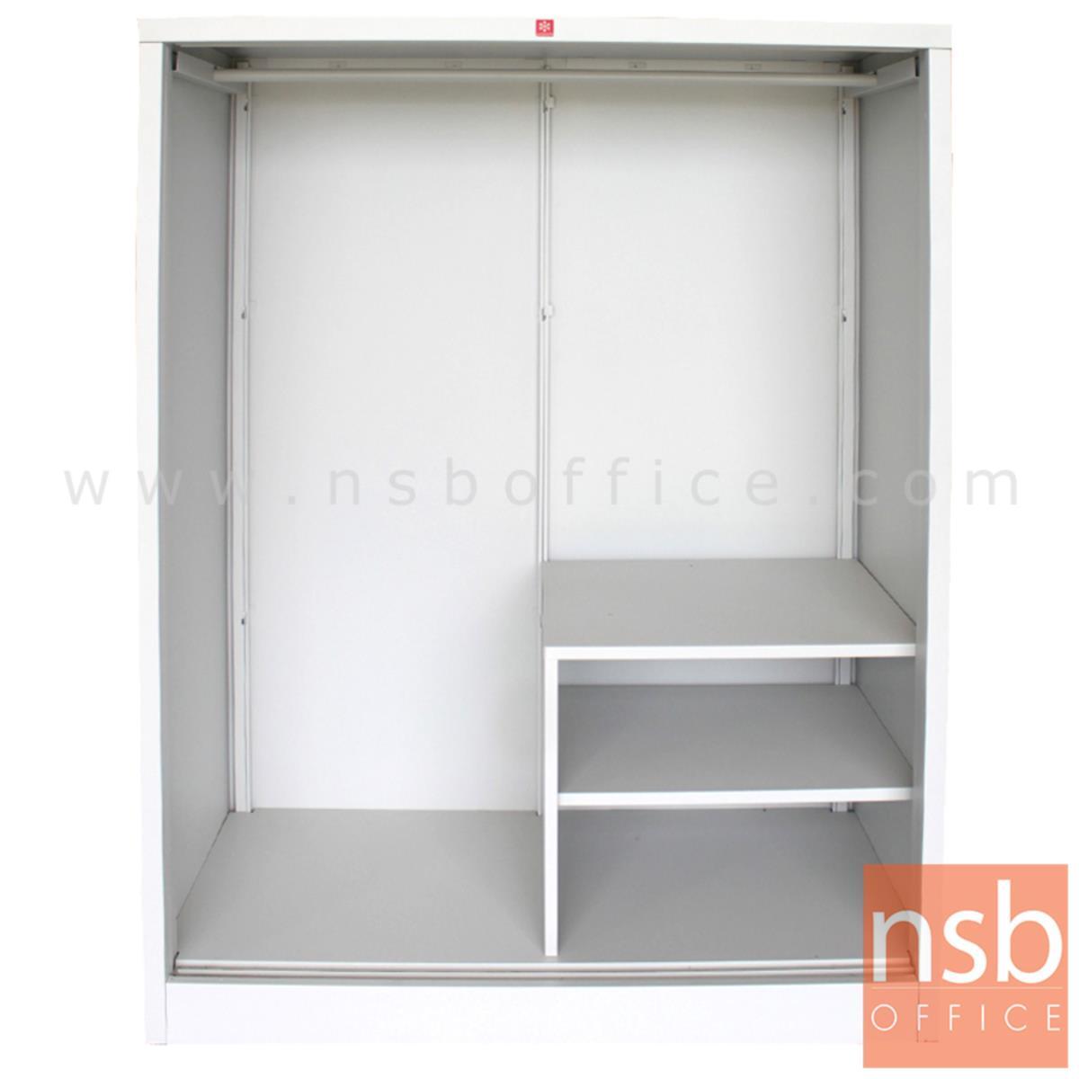 ตู้เสื้อผ้าเตี้ย บานเลื่อน บานทึบ/บานกระจกเงา H152.5 cm. KSV-152K-MC
