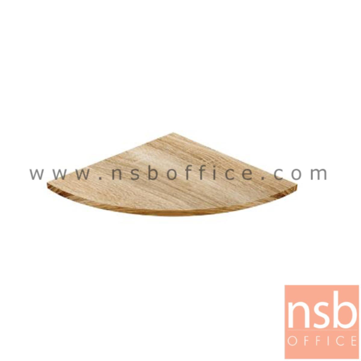 A21A015:แผ่นไม้ต่อหน้าโต๊ะเข้ามุม  รุ่น Globe (โกล์บ) ขนาด 60W*2.5H cm. สีเนเจอร์ทีค-ขาว