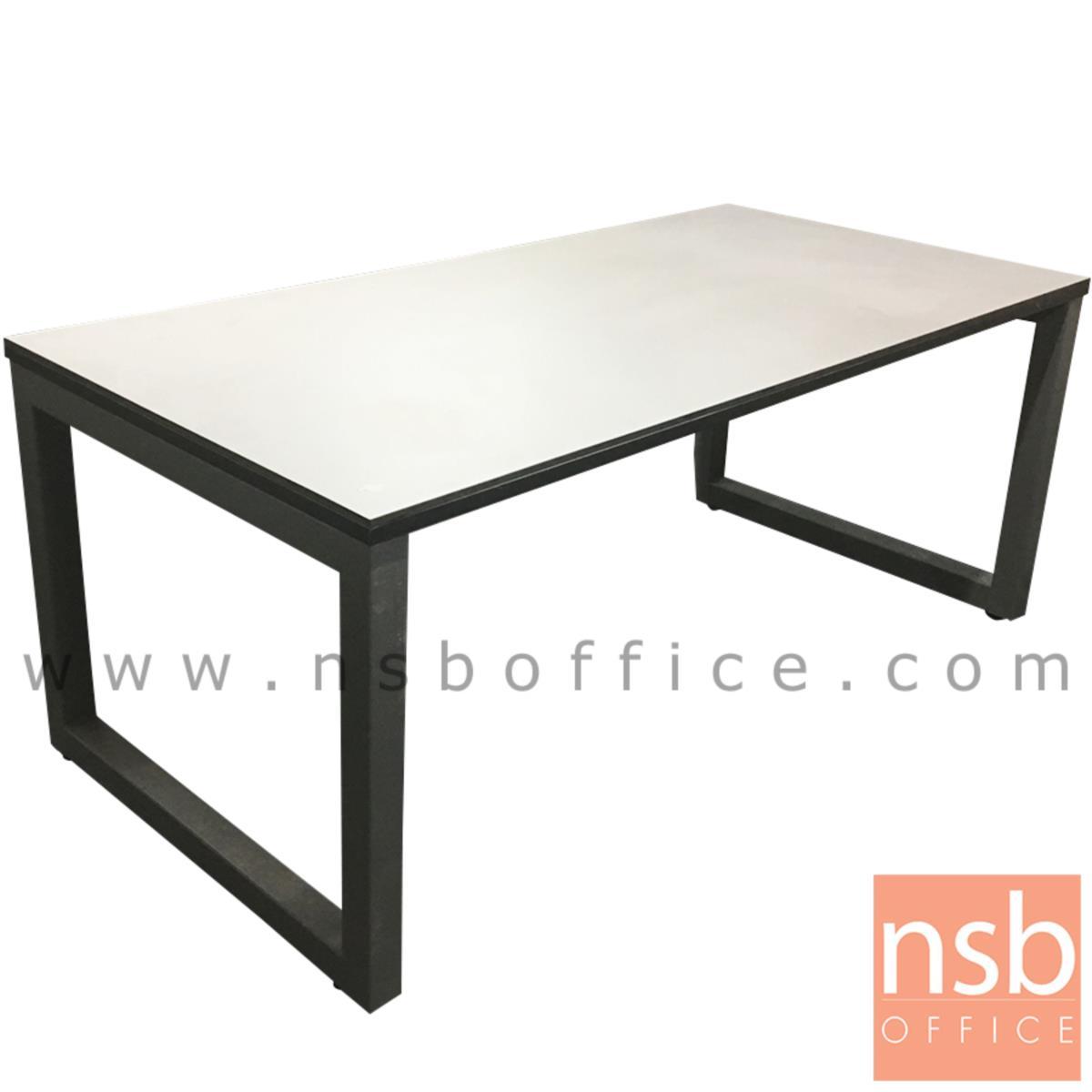 โต๊ะประชุมทรงสี่เหลี่ยม   ขนาด 200W cm. ขาเหล็กเหลี่ยมใหญ่