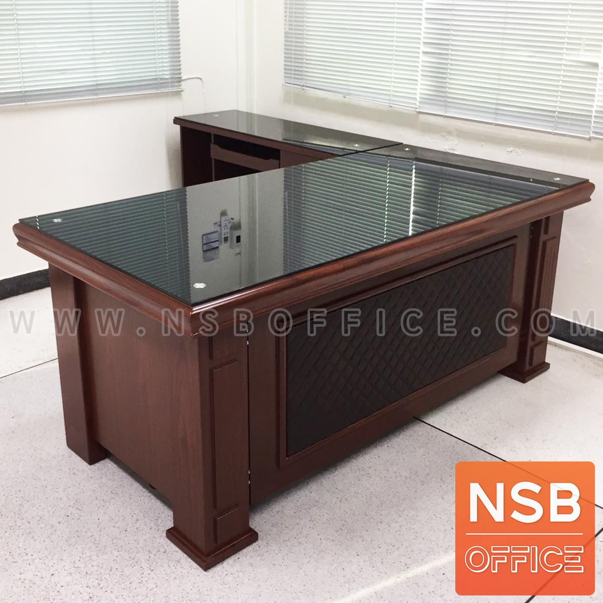โต๊ะผู้บริหารตัวแอล รุ่น URSULAR ขนาด 160W ,180W cm.
