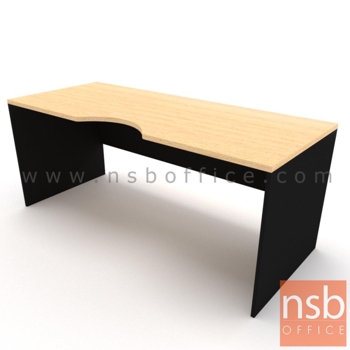 โต๊ะทำงานโล่งหน้าเว้าโค้งใบไม้   ขนาด 120W,150W,180W*(60D,75D) cm.  ไม่รวมพาร์ทิชั่น