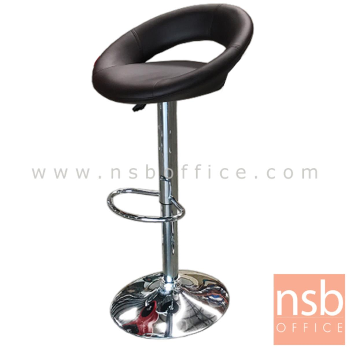 B09A094:เก้าอี้บาร์สูงหนัง PU รุ่น Verve (เวิร์ฟ) ขนาด 52W cm. โช๊คแก๊ส ขาโครเมี่ยมฐานจานกลม