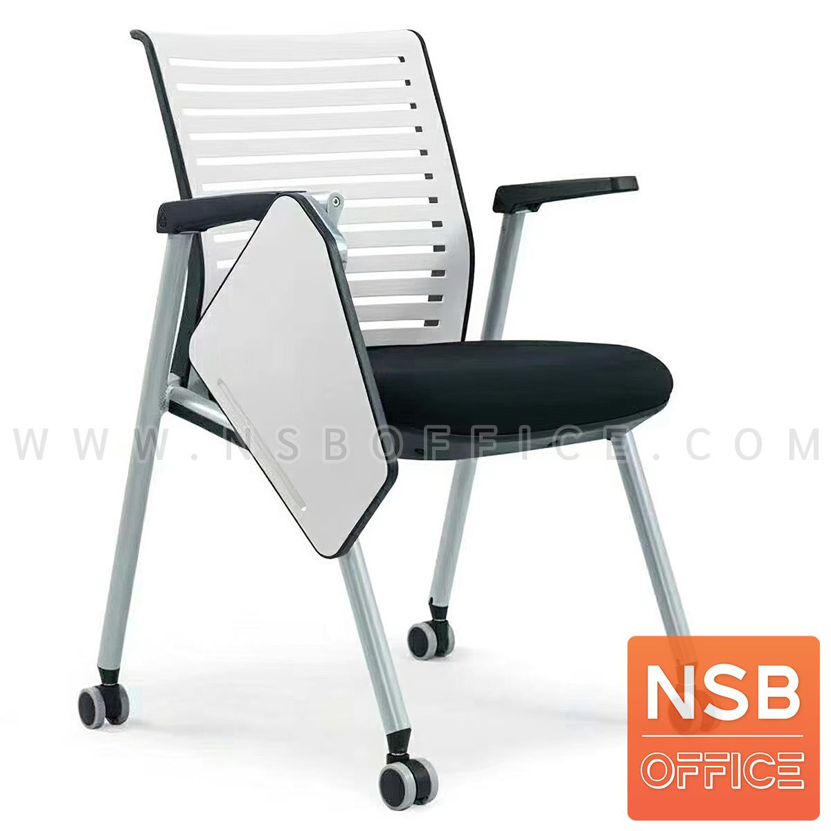 B07A095:เก้าอี้เลคเชอร์ล้อเลื่อน รุ่น JEDI (เจได)  ขาเหล็กพ่นสี