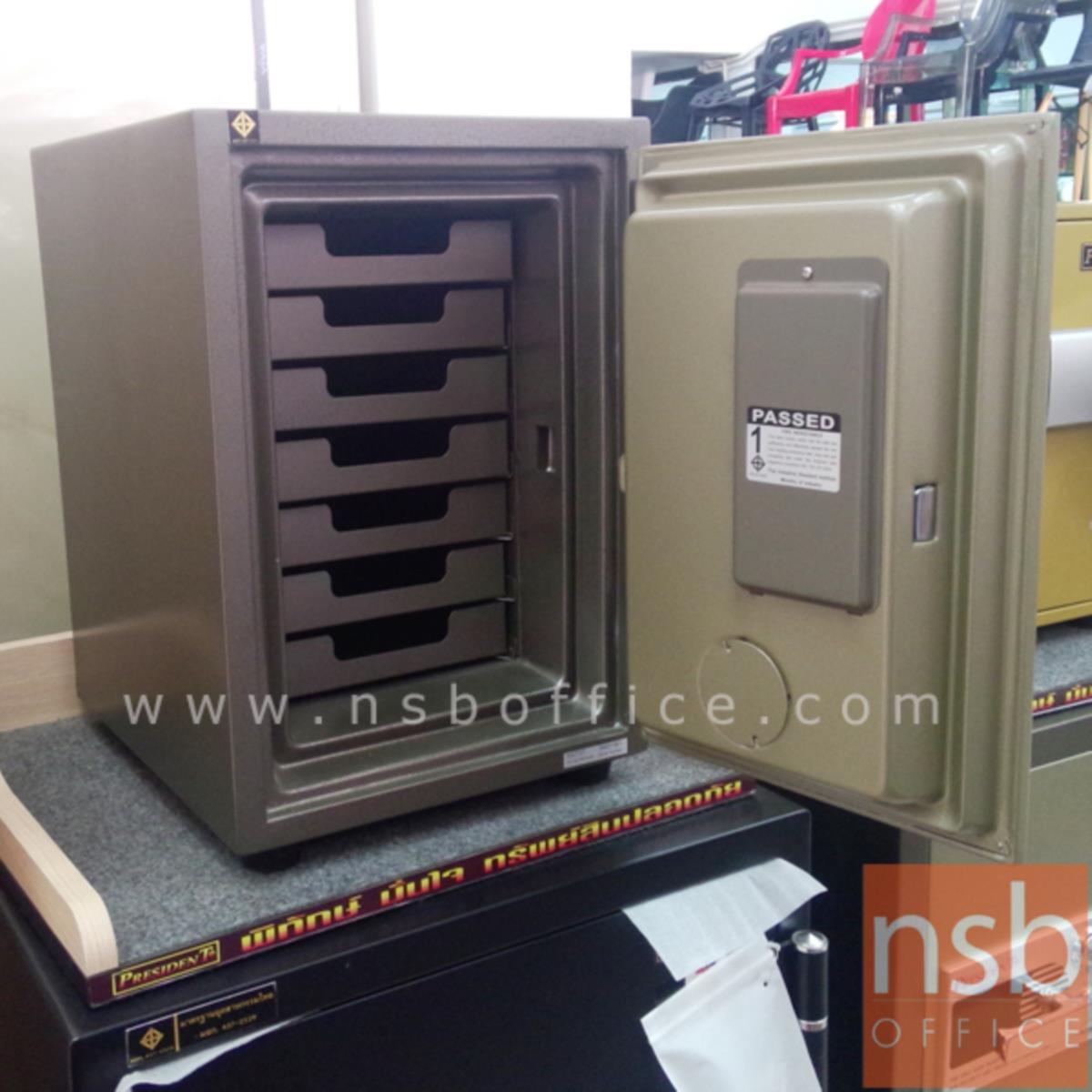 ตู้เซฟดิจิตอล 50 กก. มีถาด 7 อัน รุ่น PRESIDENT-SS2TD มี 1 กุญแจ 1 รหัส (รหัสใช้กดหน้าตู้)