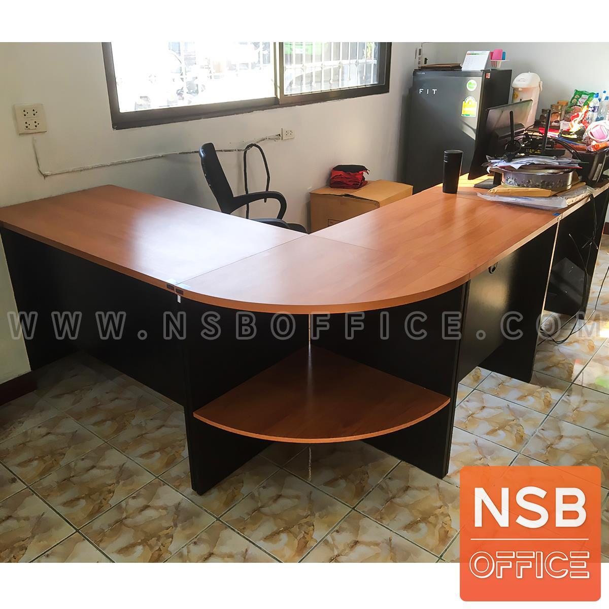 โต๊ะทำงานตัวแอลชุด 3 ชิ้น รุ่น Timberlake (ทิมเบอร์เลก) ขนาด 180W1*140W2 cm. เมลามีน