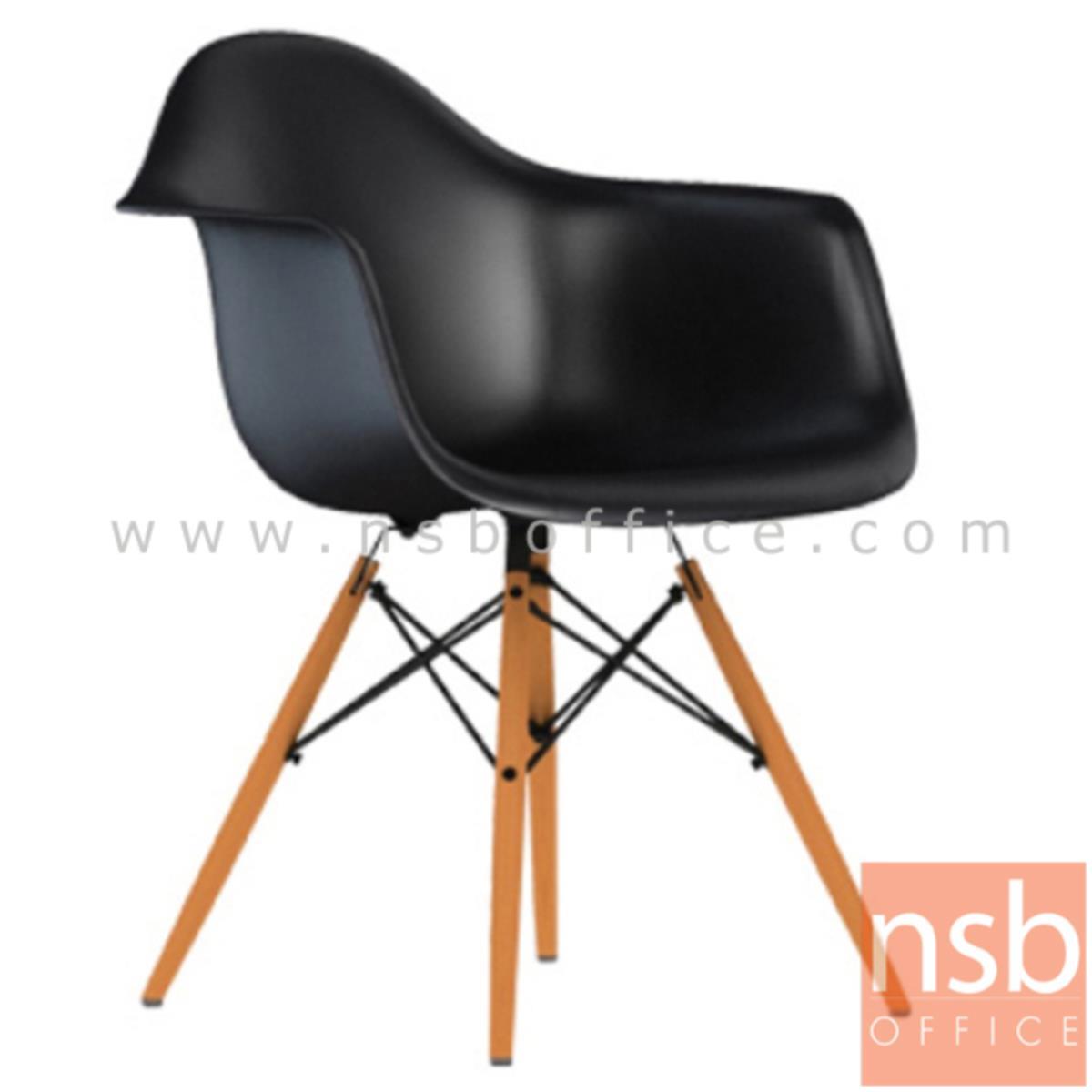 B05A089:เก้าอี้โมเดิร์นโพลี่ รุ่น Nazario (นาซารีโอ) ขนาด 62W cm. โครงเหล็กเส้นพ่นดำ ขาไม้สีบีช