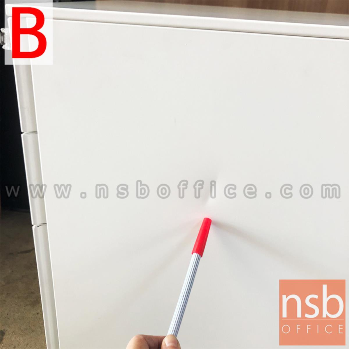ตู้เหล็กสีขาว 3 ลิ้นชักล้อเลื่อน วางใต้โต๊ะ ขนาด 39W* 50D* 60H cm  (สต๊อก 2 ตัวหน้าร้าน)
