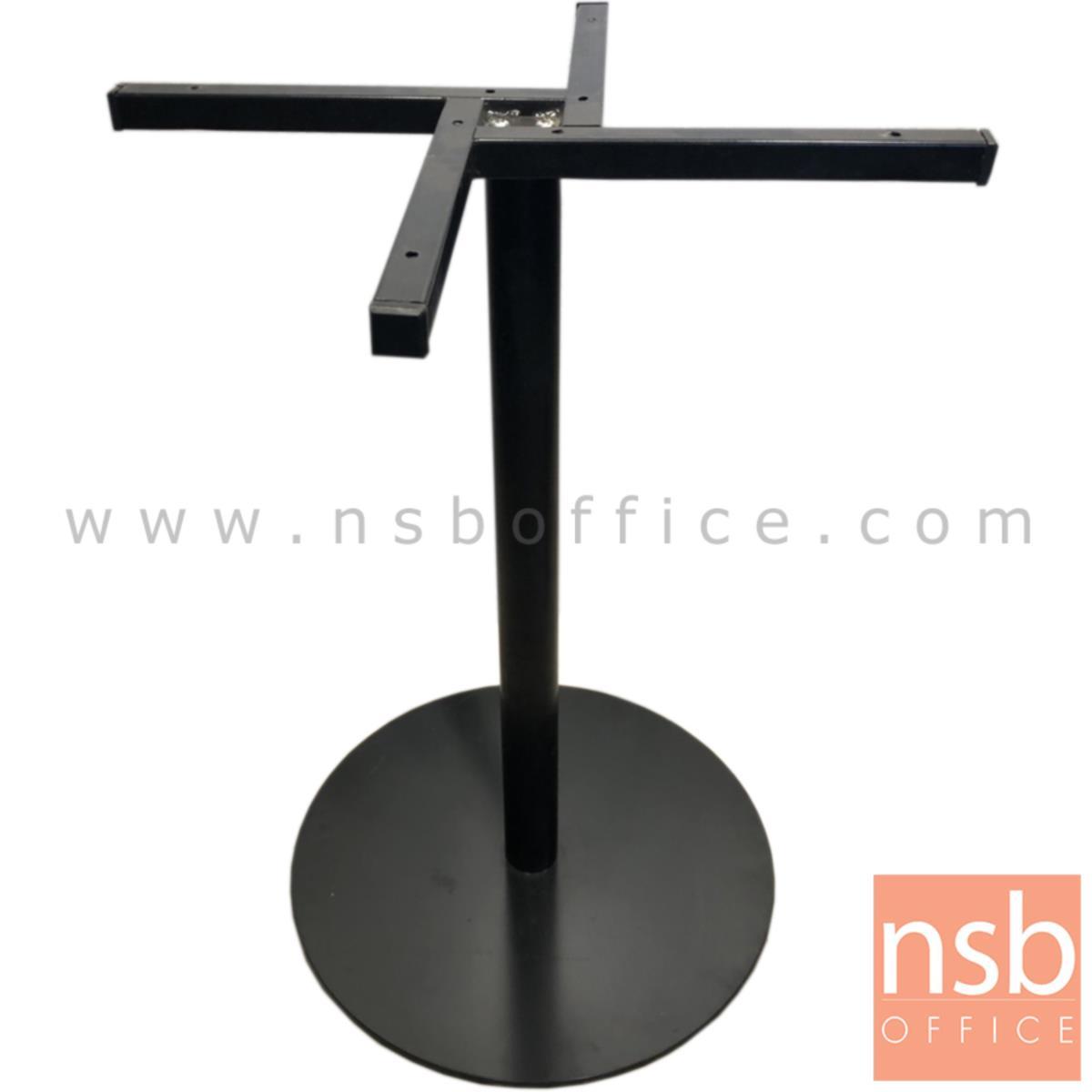J02A003:ขาโต๊ะบาร์ รุ่น กลมเรียบ ขนาด 46Di*72H cm. โครงขาสีดำ