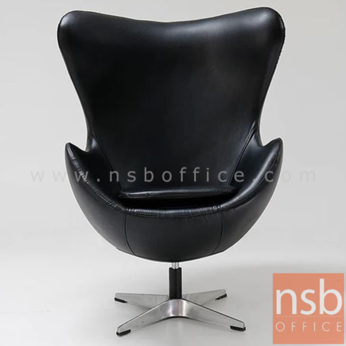 เก้าอี้โมเดิร์นหนังเทียม รุ่น Griffith (กริฟฟิท)  โครงขาเหล็กชุบโครเมี่ยม
