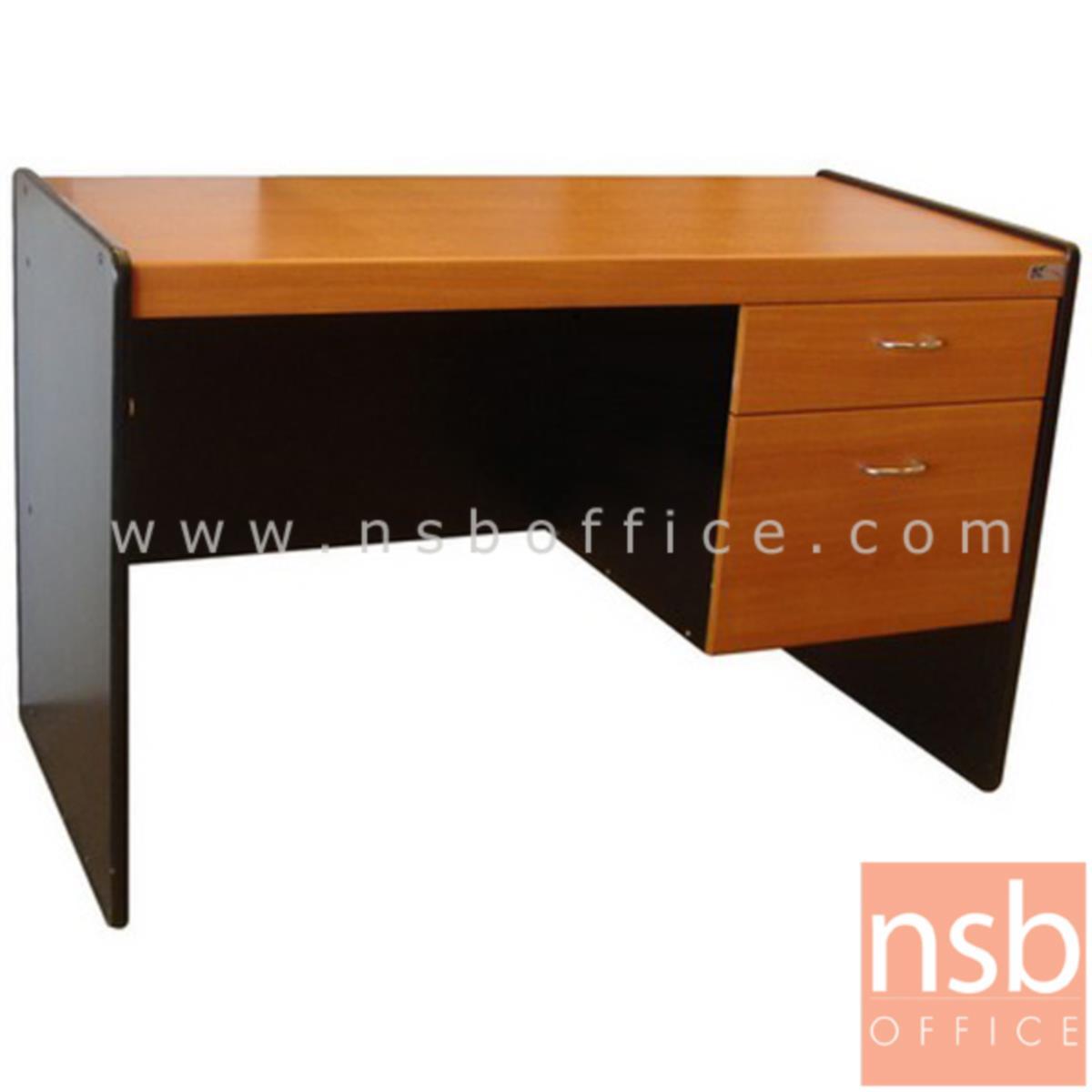 A01A010:โต๊ะทำงาน 2 ลิ้นชัก รุ่น Hum (ฮัม) ขนาด 100W ,120W cm.  พีวีซี