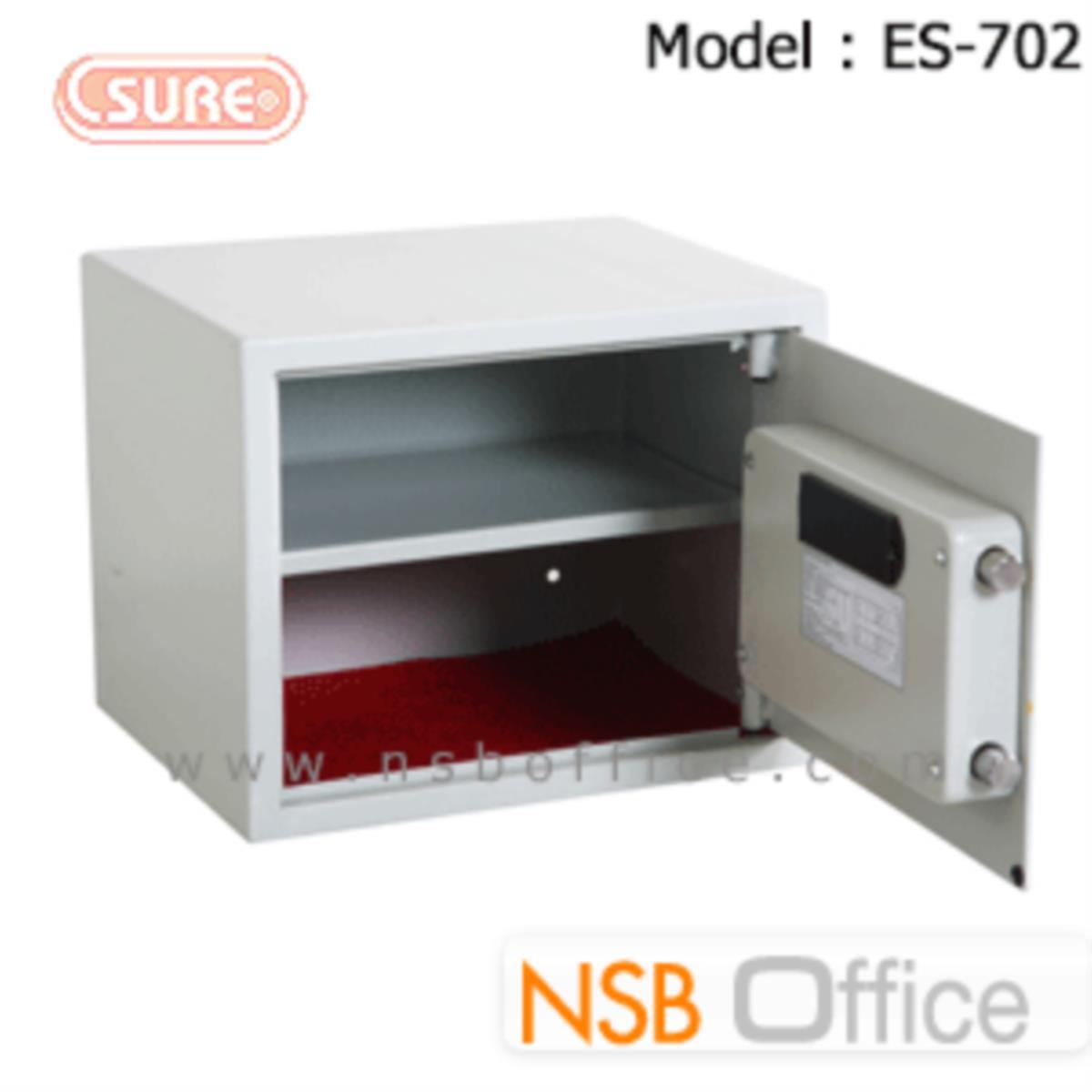 ตู้เซฟดิจิตอล 12.5 กก. SR-ES702 (1 รหัสกด / 1 ปุ่มหมุนบิด) ขนาด 38W*30D*31H cm.