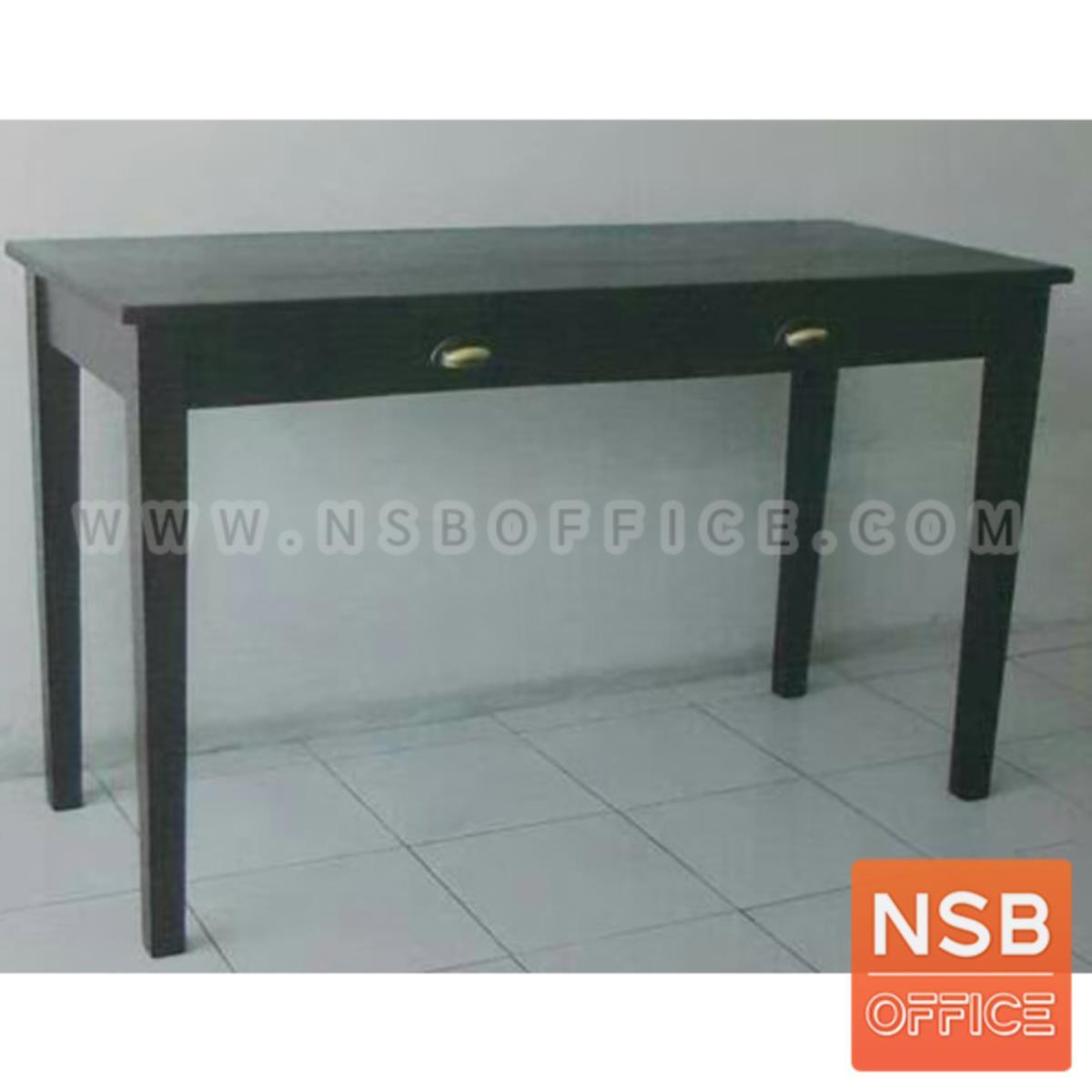 G20A003:โต๊ะเหลี่ยมไม้ยางพารา 2 ลิ้นชัก รุ่น Ben (เบน) ขนาด 120W*50D*75H cm.
