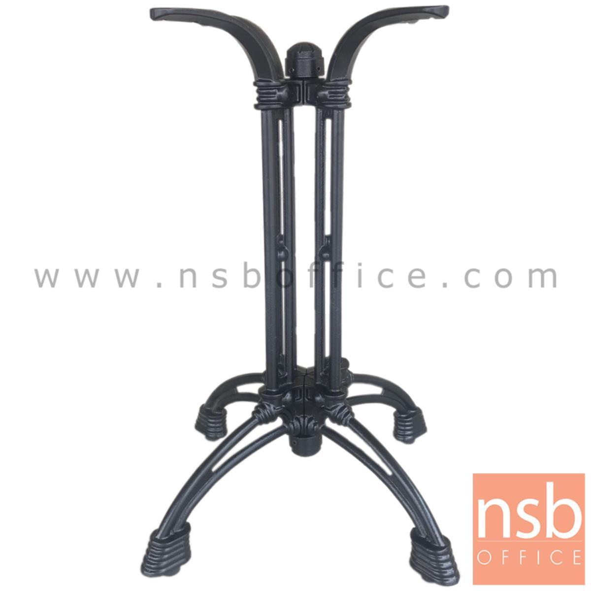 A14A224:ขาโต๊ะบาร์ทรงโรมัน เหล็กหล่อ สีดำ รุ่น DEDO (ดีโด้)