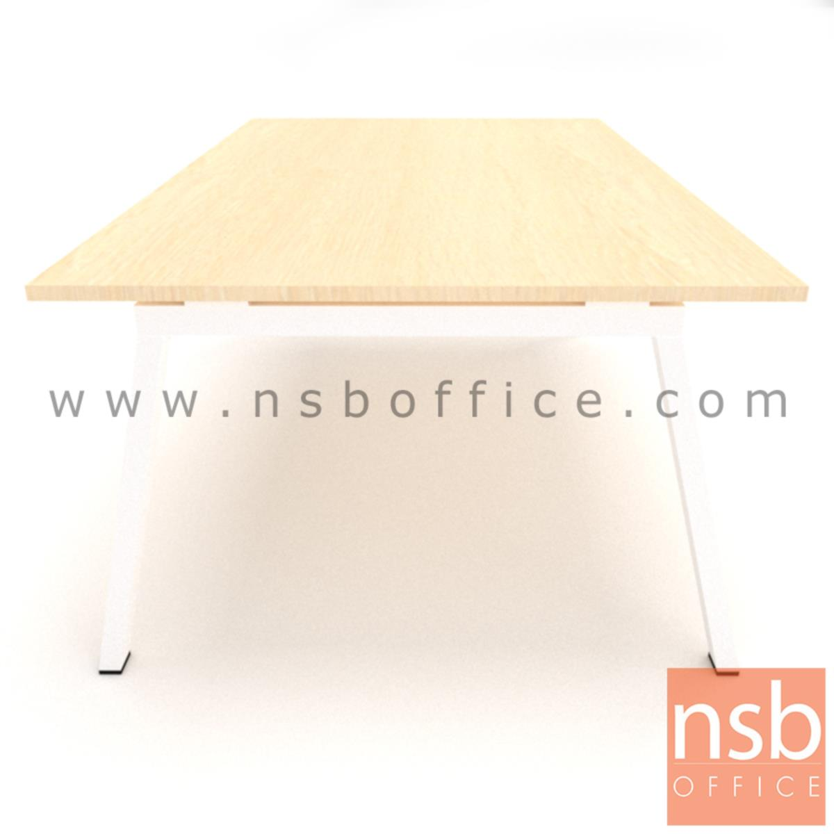 โต๊ะประชุมทรงสี่เหลี่ยม ขาทรงเอ  200W, 240W cm
