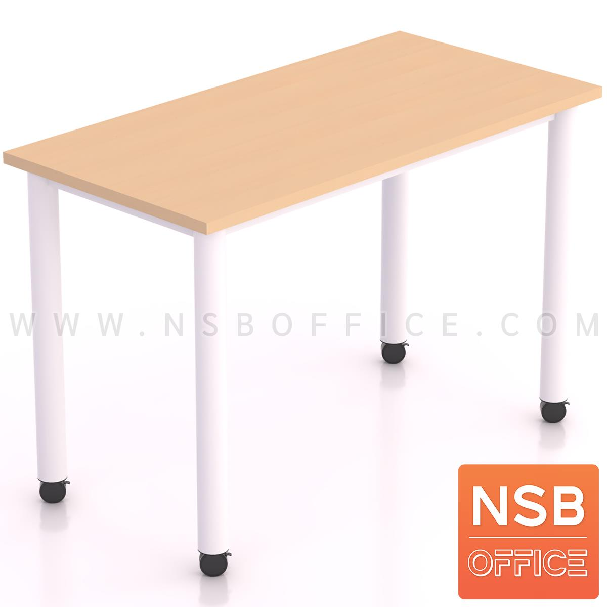 B30A063:โต๊ะทำงานทรงสี่เหลี่ยม  รุ่น Malvern (มัลเวิร์น)  โครงขากลม สีขาว