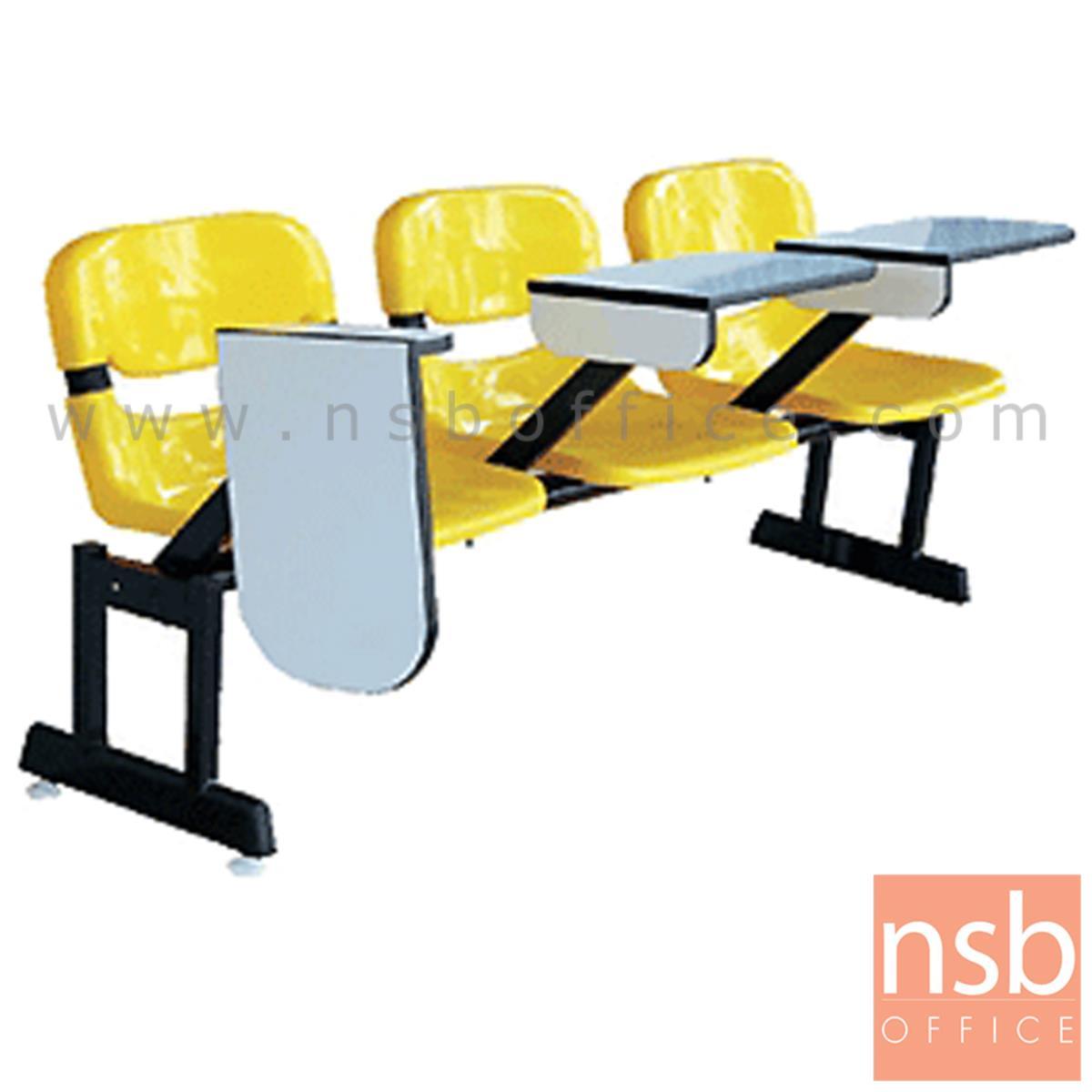 B17A036:เก้าอี้เลคเชอร์แถวเฟรมโพลี่ รุ่น POLY-002 3 และ 4 ที่นั่ง ขาเหล็กเหลี่ยมแบบขาคู่พ่นดำ