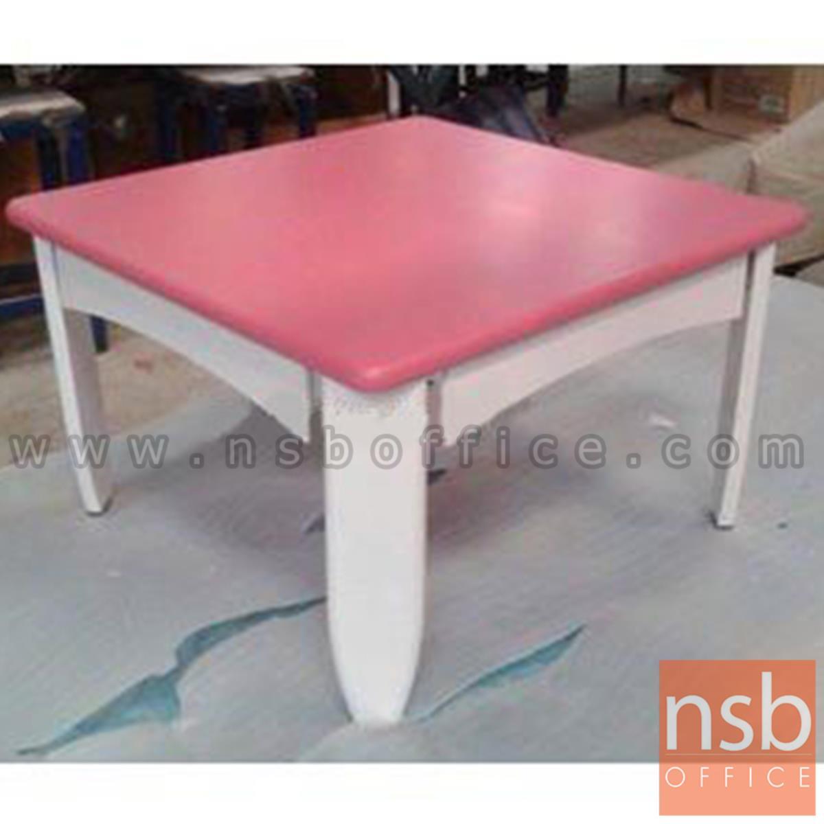 CL30461:โต๊ะญี่ปุ่นพับได้ ไม้ยางพารา 60*60*38 ซม. (สต็อก 4 ตัวหน้าร้าน)  สีสันสดใส