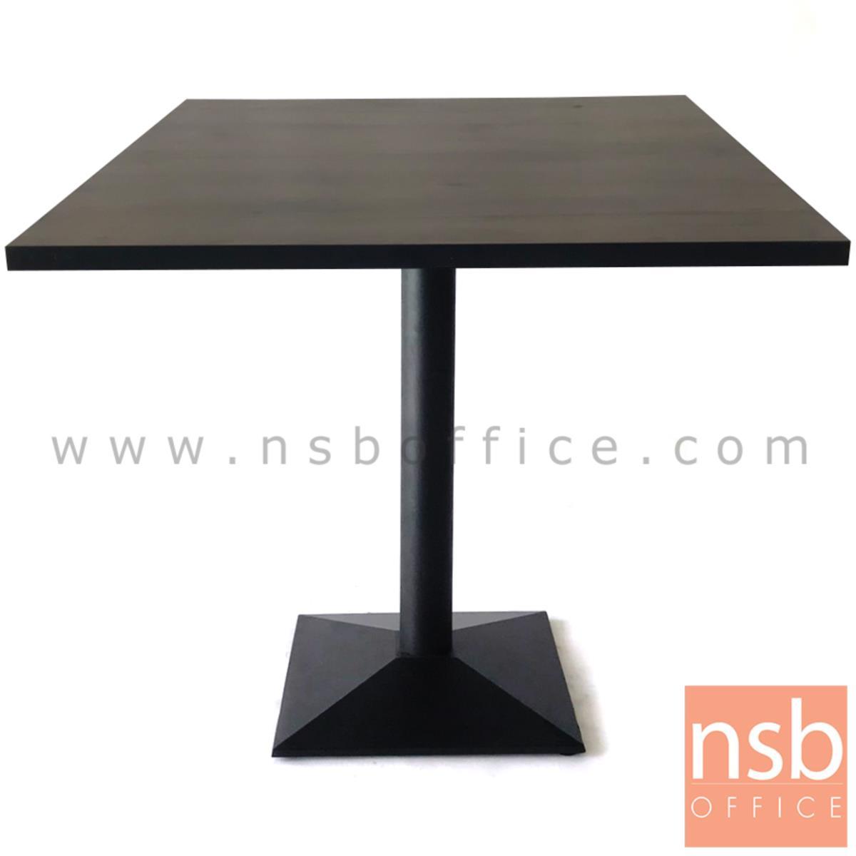 ขาโต๊ะบาร์ทรงสี่เหลี่ยมปิรามิด สีดำ รุ่น PIRAMID
