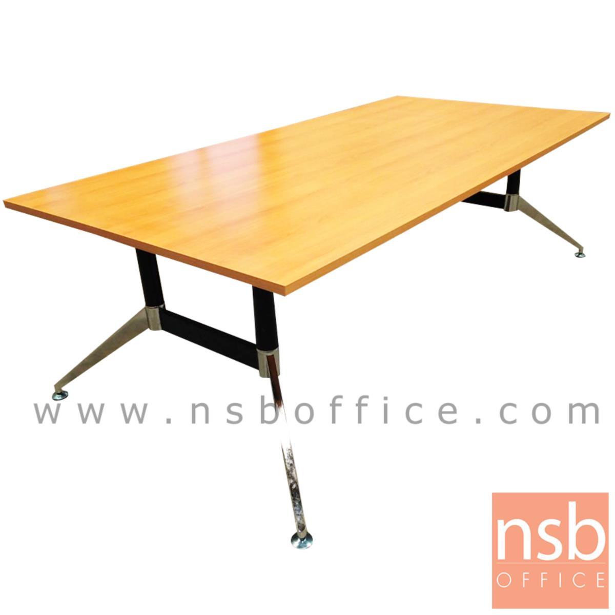 A25A008:โต๊ะประชุมทรงสี่เหลี่ยม 10 ที่นั่ง  รุ่น Ollivander (โอลิแวนเดอร์) ขนาด 240W cm. ขาเหล็กทรงหางปลา