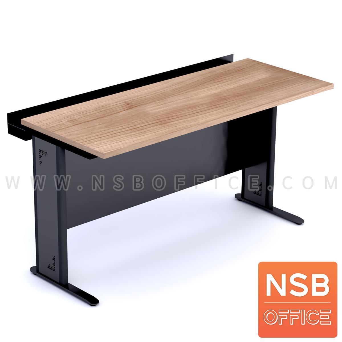 โต๊ะประชุมตรง  ขนาด 150W,180W,210W cm. พร้อมบังตาเหล็ก และที่วางจอ
