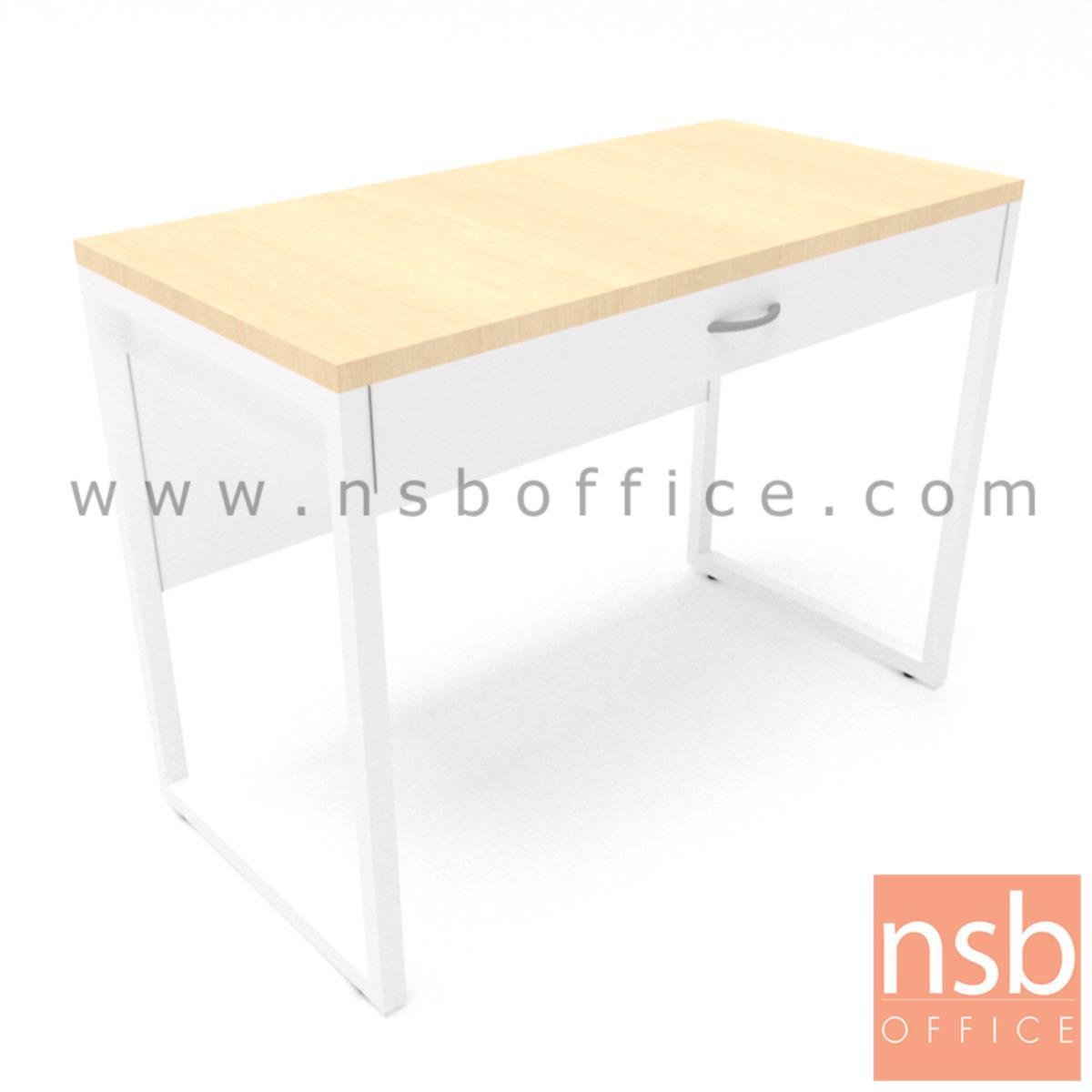 โต๊ะทำงาน 1 ลิ้นชัก รุ่น Marie (มารียา) ขนาด 80W, 100W cm. ขาเหล็ก