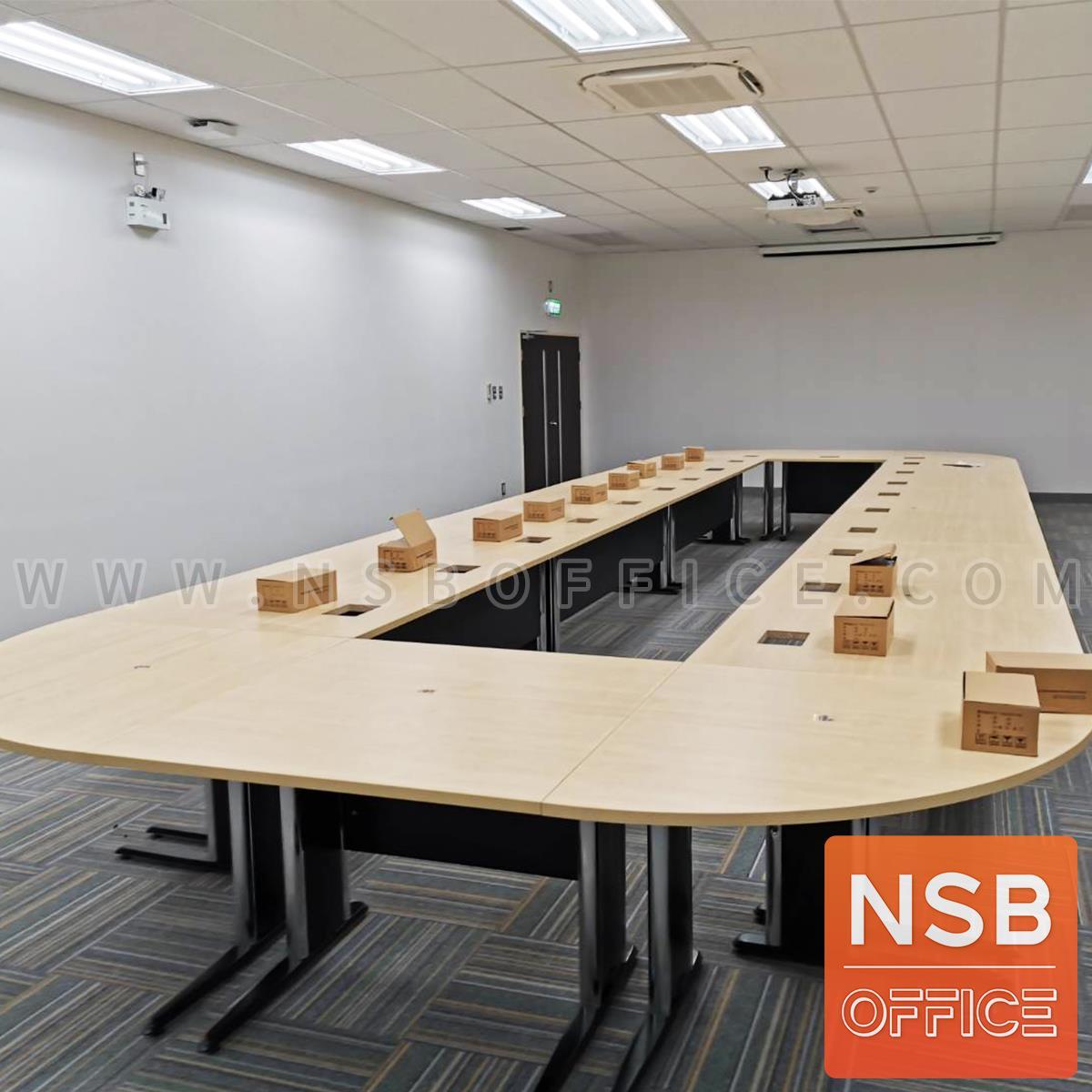 โต๊ะประชุมตรง รุ่น Oracle  ขนาด 80W ,120W ,150W ,180W ,210W ,240W cm.  พร้อมบังตาไม้ ขาเหล็กตัวแอล