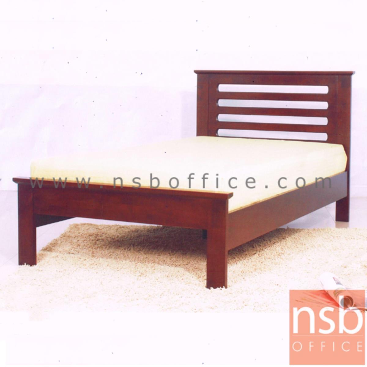 เตียงไม้ยางพารา สีสัก กว้าง 3.5 , 5 , 6 ฟุต