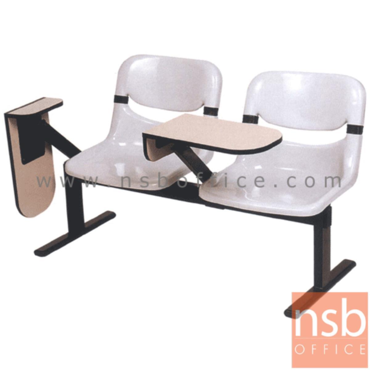 เก้าอี้เลคเชอร์แถวเฟรมโพลี่ รุ่น D990 2 ,3 และ 4 ที่นั่ง ขาเหล็กเหลี่ยมพ่นดำ