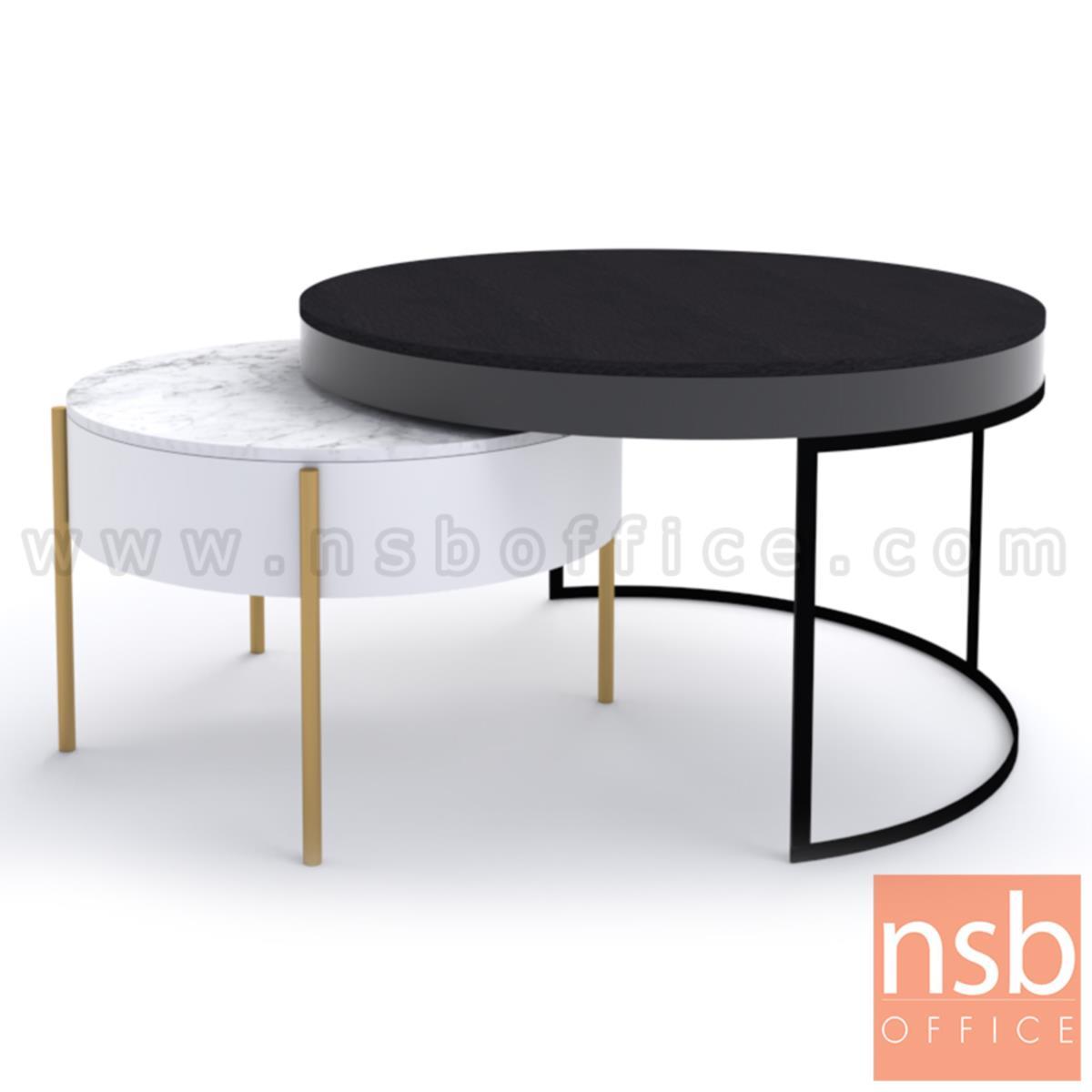 B13A275:โต๊ะกลางกลมหน้าหิน รุ่น Alder (ออลเดอร์)  ขาสีทอง