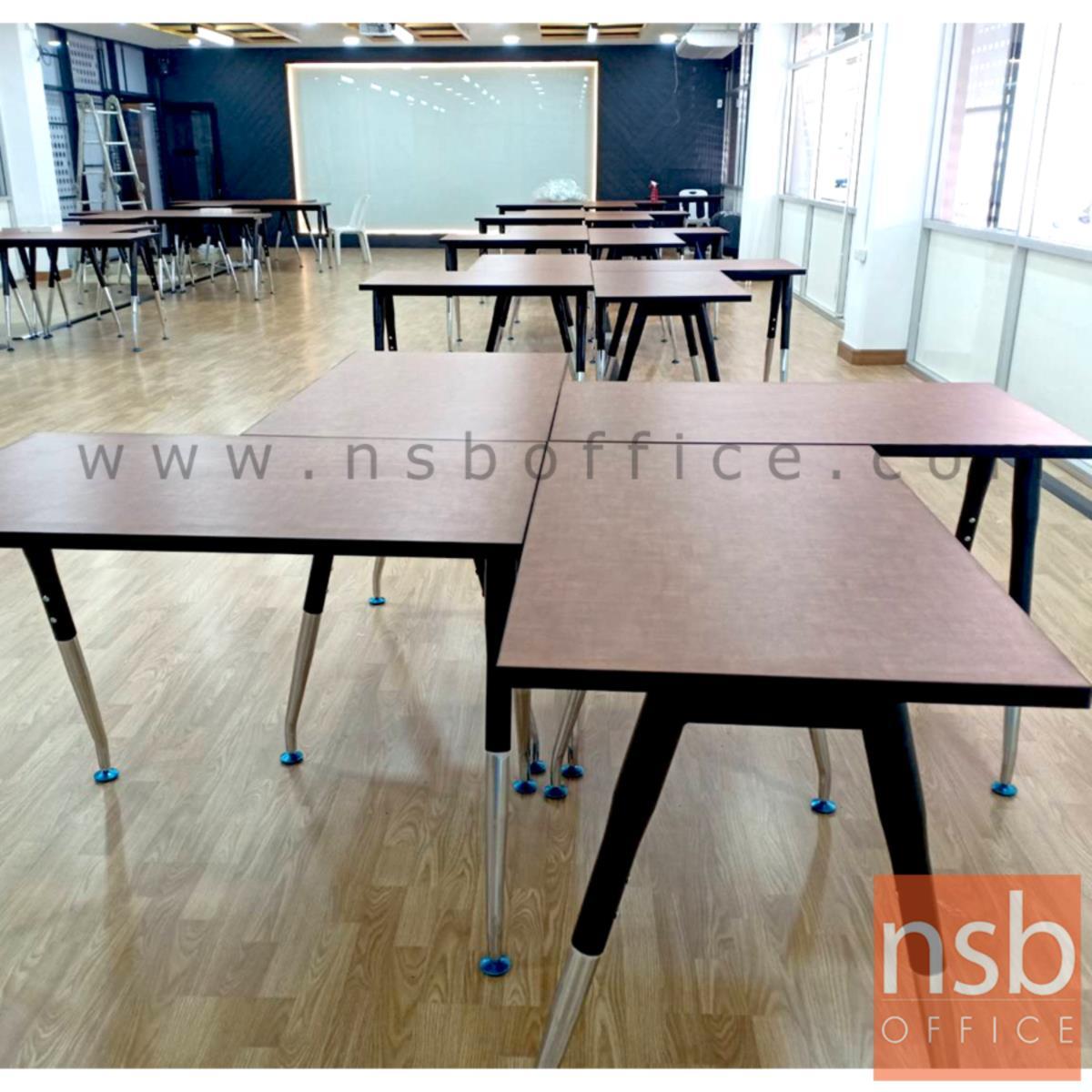 โต๊ะทำงานโล่ง MODERN-13  ขาเหล็กวีคว่ำ ปลายเรียว