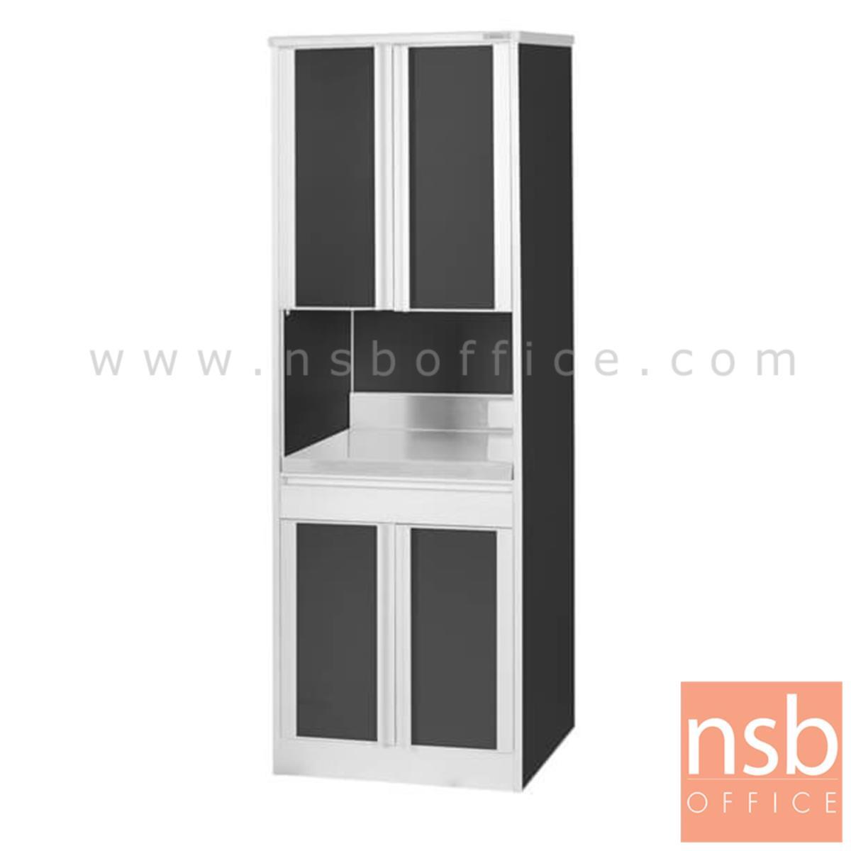 K09A032:ตู้ครัวไมโครเวฟ รุ่น MCB-AC 4 บานเปิด