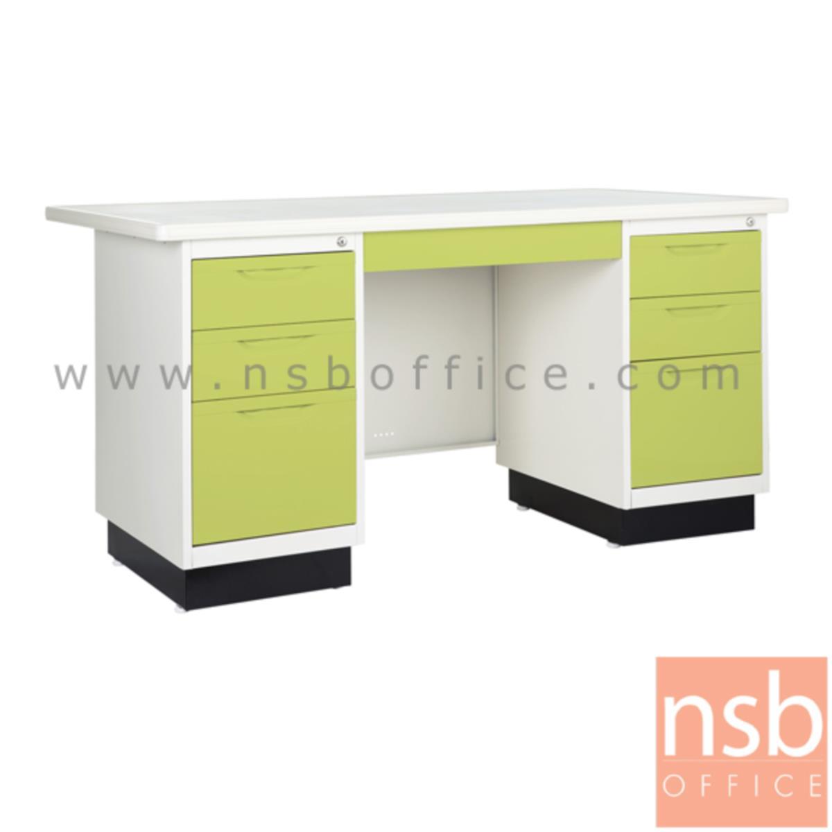 E22A010:โต๊ะทำงานหน้าเหล็ก 7 ลิ้นชัก รุ่น BS-8956 ขนาด 4.5 ,5 ฟุต