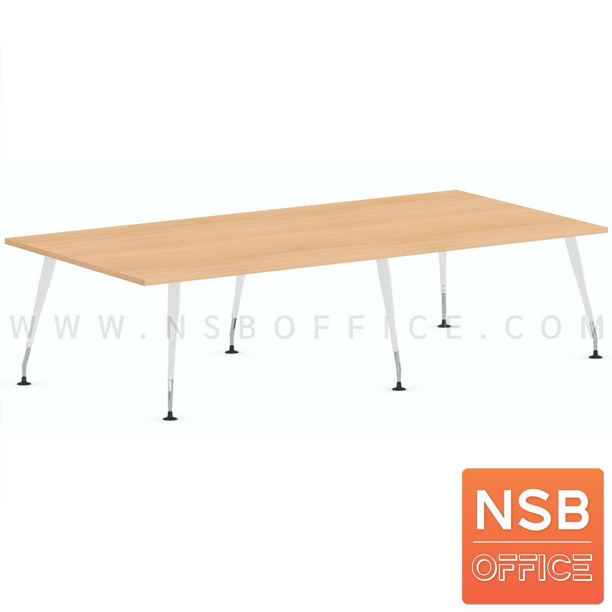 A05A232:โต๊ะประชุมทรงสี่เหลี่ยม  รุ่น Maroon (มาร์รูน) ขนาด 240W*120D cm. ขาเหล็ก