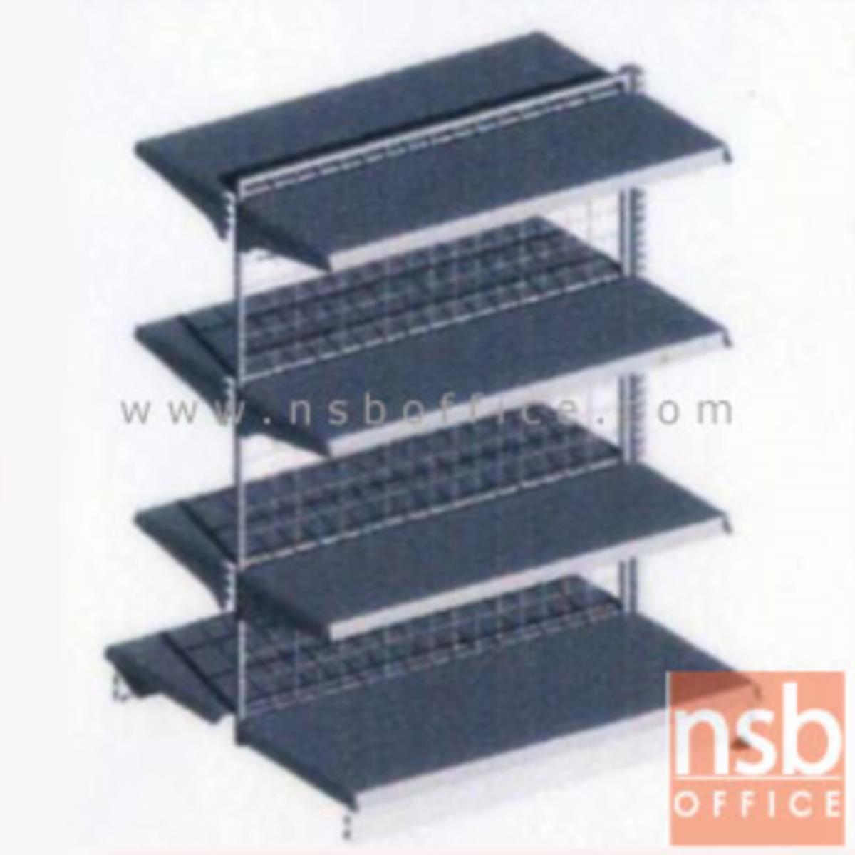 ชั้นเหล็กซุปเปอร์มาร์เก็ต สูง 150 cm. หนา 0.7 mm. 2 หน้า 4+4 แผ่นชั้น  รุ่น CK-F5 แบบตัวตั้งและแบบตัวต่อ