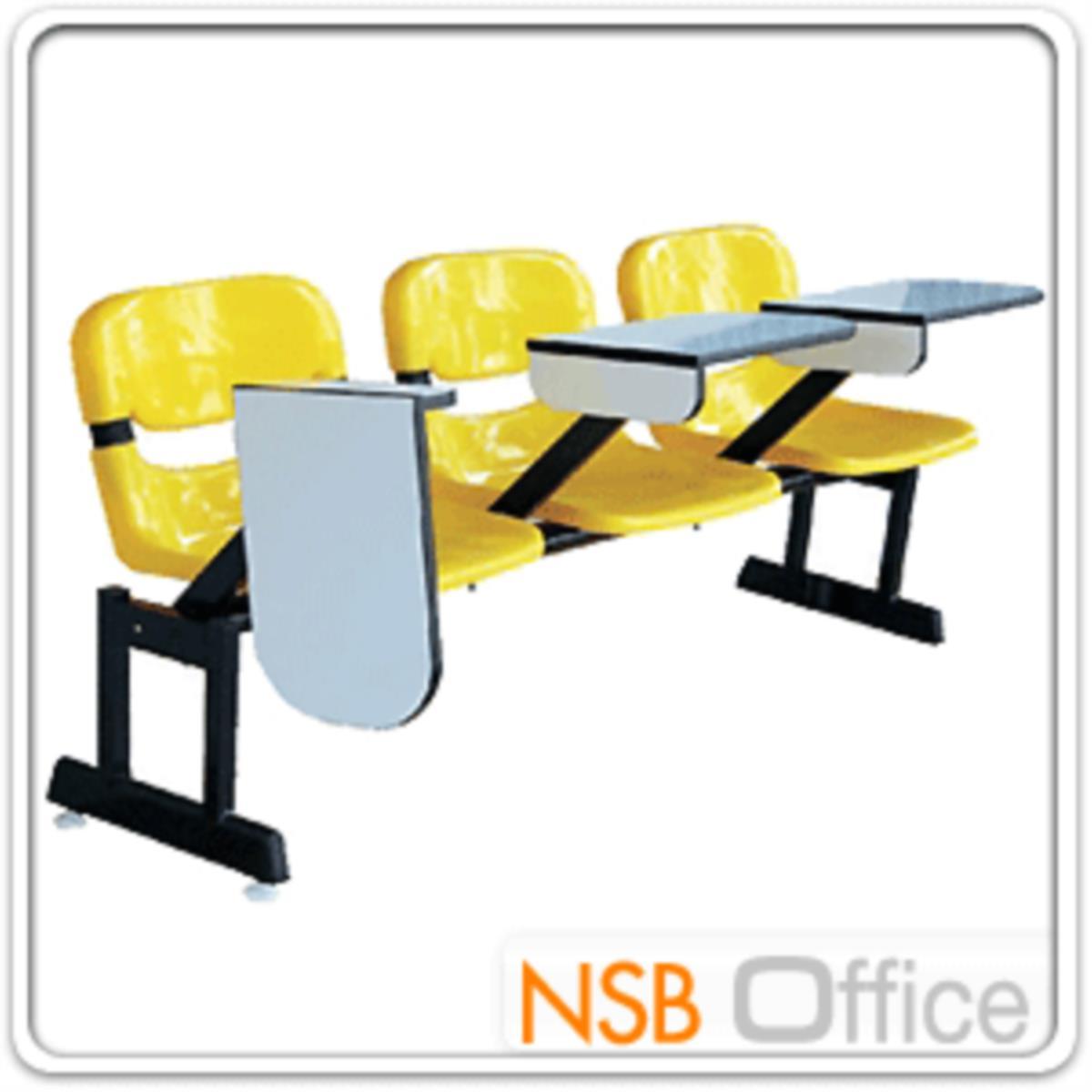 เก้าอี้เลคเชอร์แถวเฟรมโพลี่ รุ่น POLY-002 3 และ 4 ที่นั่ง ขาเหล็กเหลี่ยมแบบขาคู่พ่นดำ