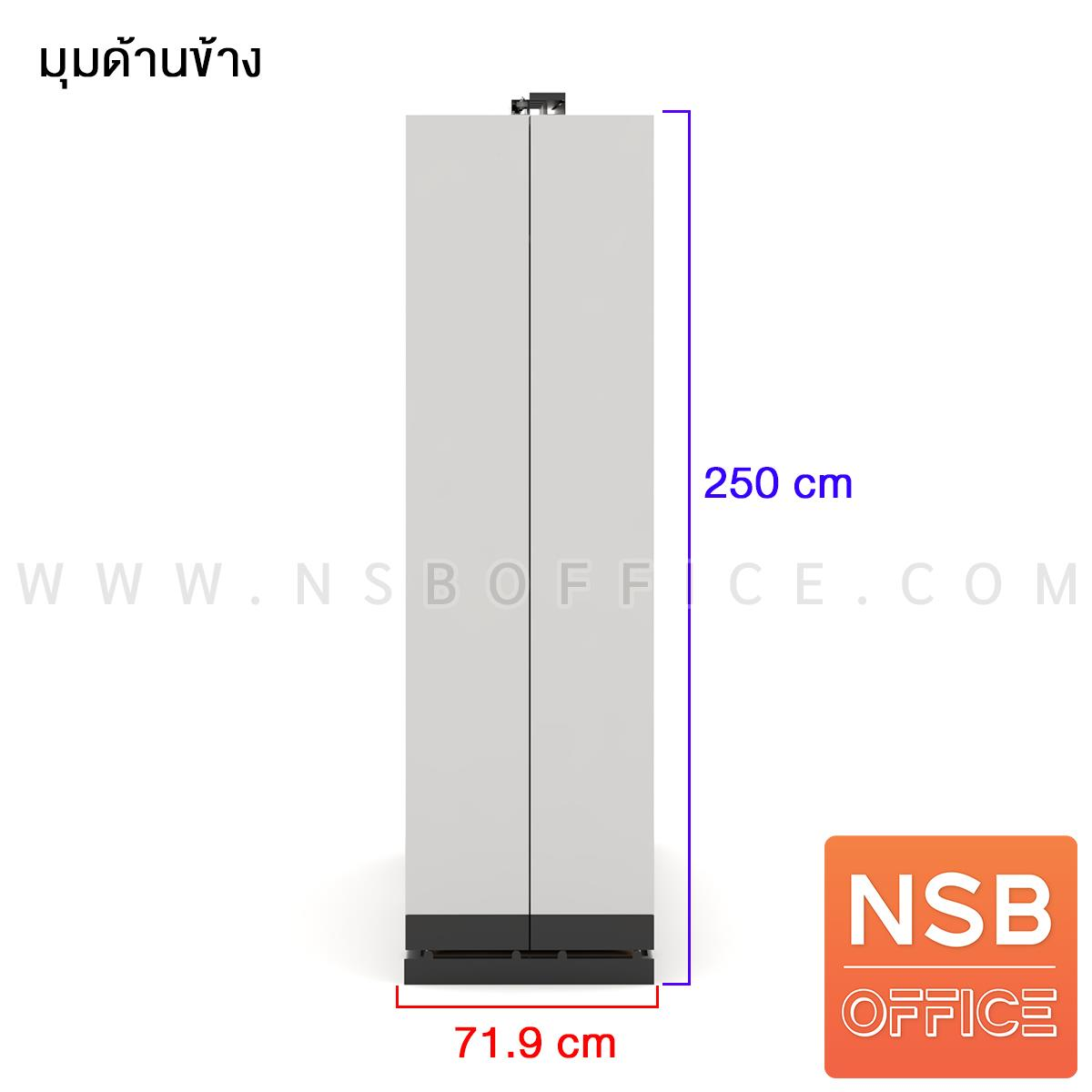 ตู้รางเลื่อนแนวขวางแบบเลื่อนข้าง  5 ,7, 9, 11 ตู้ ความกว้างของตู้เดี่ยว 91.4 ซม. สำหรับแฟ้ม A4