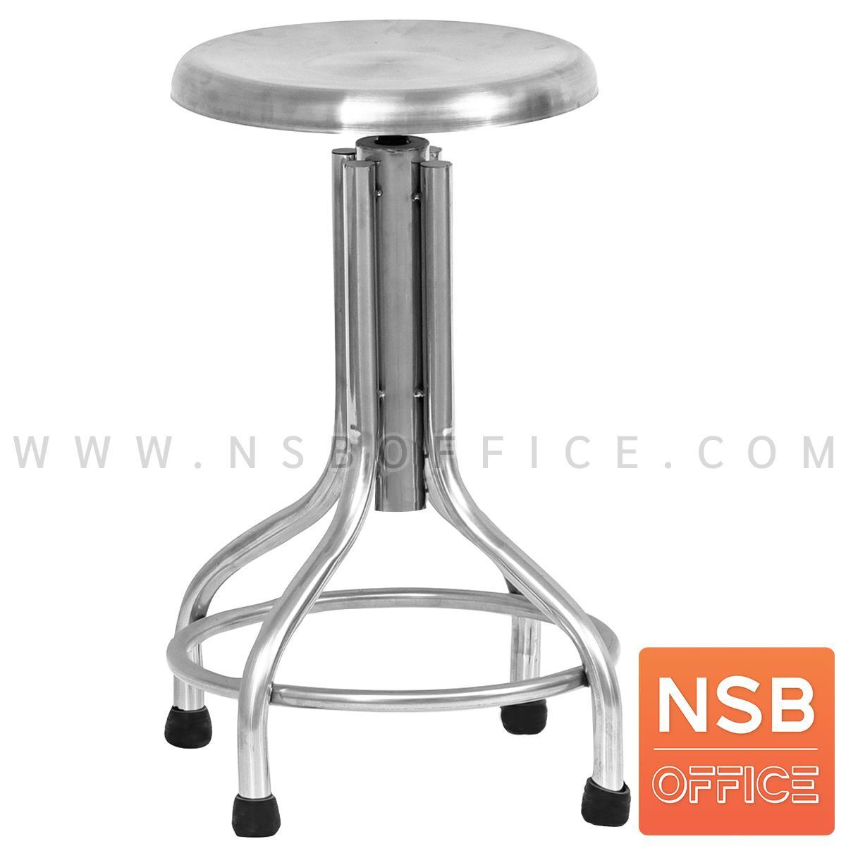 B02A108:เก้าอี้บาร์สเตนเลสสูง มีพักเท้า