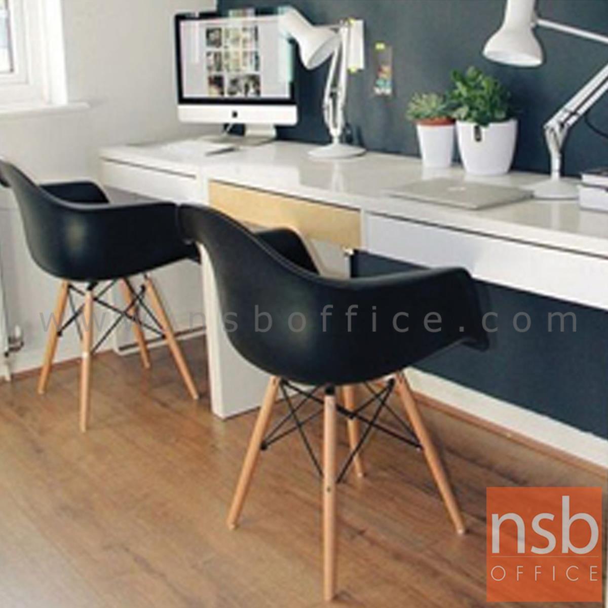 เก้าอี้โมเดิร์นโพลี่ รุ่น Nazario (นาซารีโอ) ขนาด 62W cm. โครงเหล็กเส้นพ่นดำ ขาไม้สีบีช