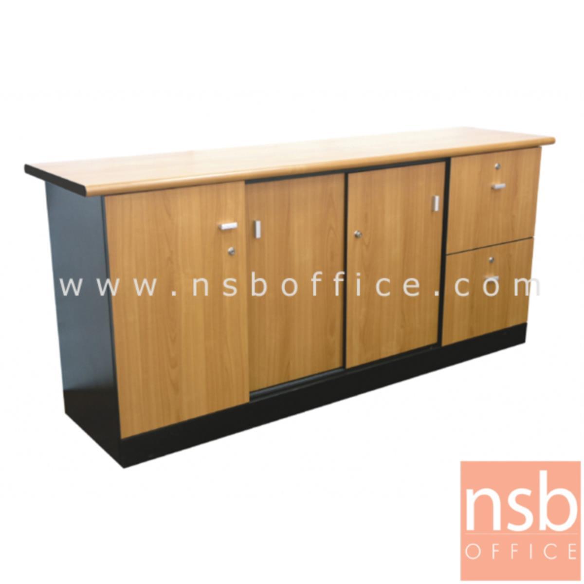 โต๊ะผู้บริหารตัวแอล  รุ่น CXE ขนาด 180W1*210W2 cm.  สีเชอร์รี่-ดำ