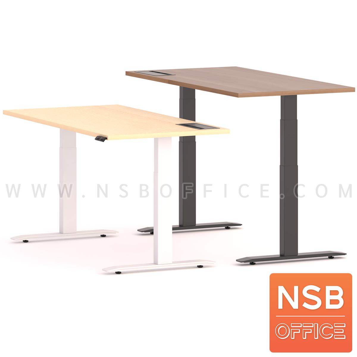 โต๊ะทำงานปรับระดับ Sit 2 Stand ระบบไฟฟ้า รุ่น Flaxen 3 (แฟลกซ์เซ็น 3) ขนาด 150W, 180W cm.  พร้อมป็อปอัพรุ่น A24A057