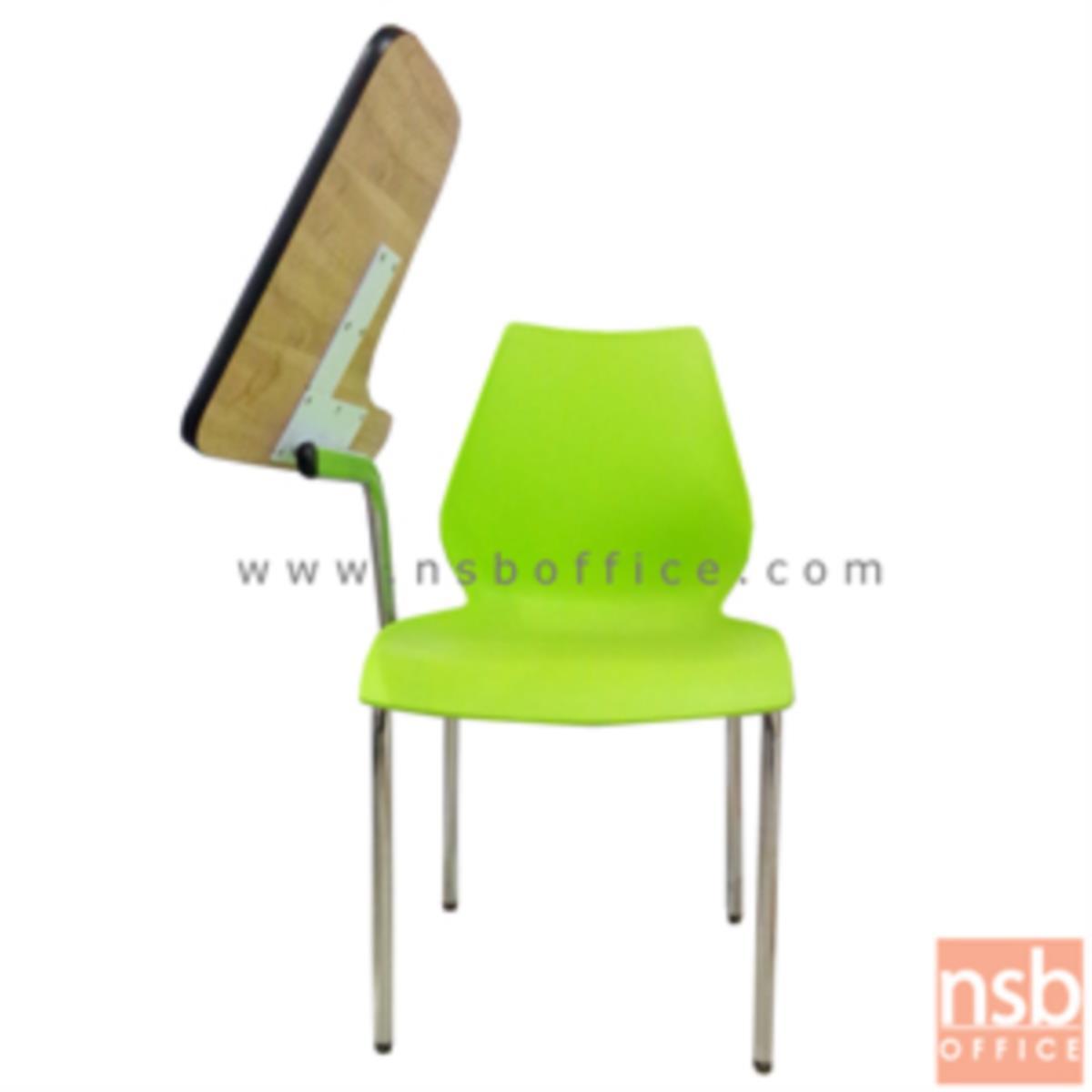 เก้าอี้เลคเชอร์เฟรมโพลี่ รุ่น B208  ขาเหล็กชุบโครเมี่ยม
