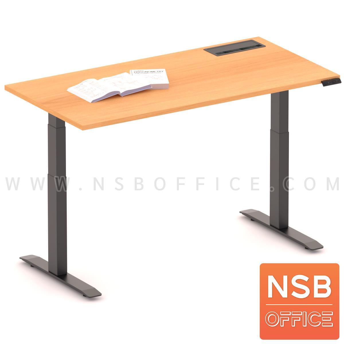 A44A004:โต๊ะทำงานปรับระดับ Sit 2 Stand ระบบไฟฟ้า รุ่น Flaxen 3 (แฟลกซ์เซ็น 3) ขนาด 150W, 180W cm.  พร้อมป็อปอัพรุ่น A24A057
