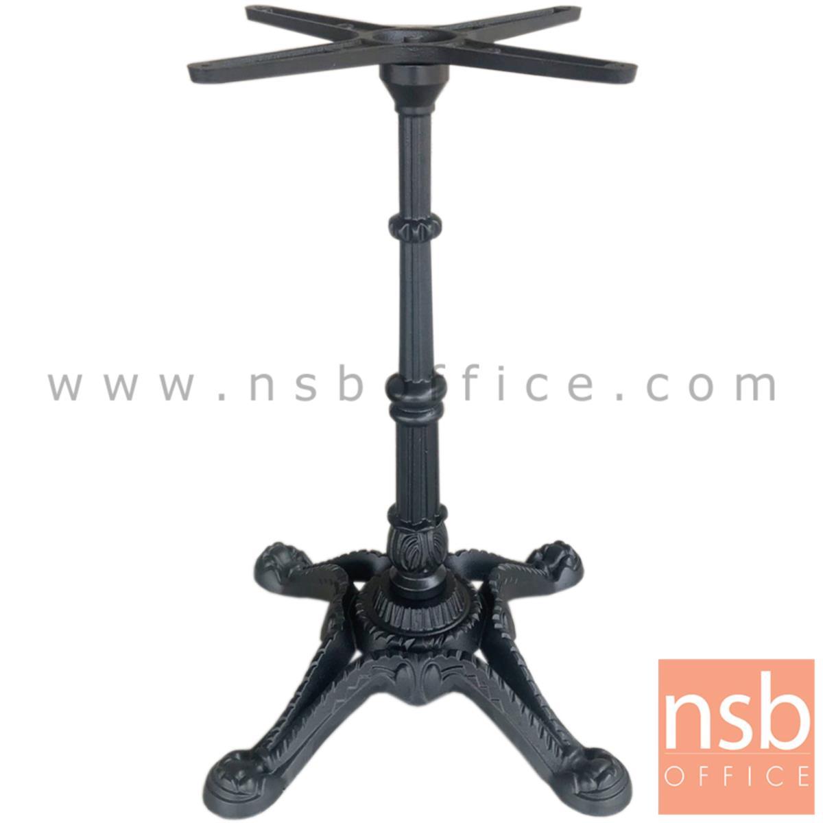 J02A001:ขาโต๊ะบาร์สี่แฉกทรงฟัก สีดำ รุ่น GOGI (โกกิ)