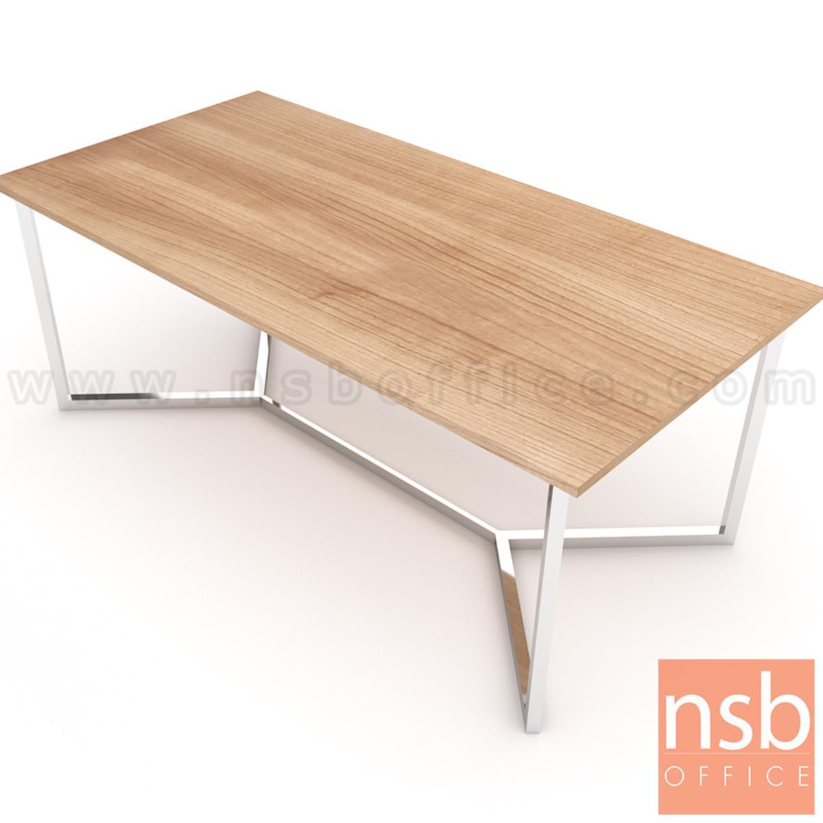 A05A225:โต๊ะประชุมทรงสีเหลี่ยม รุ่น Jaylen (เจเลน) ขนาด 200W*100D*75H cm. ขาสแตนเลส