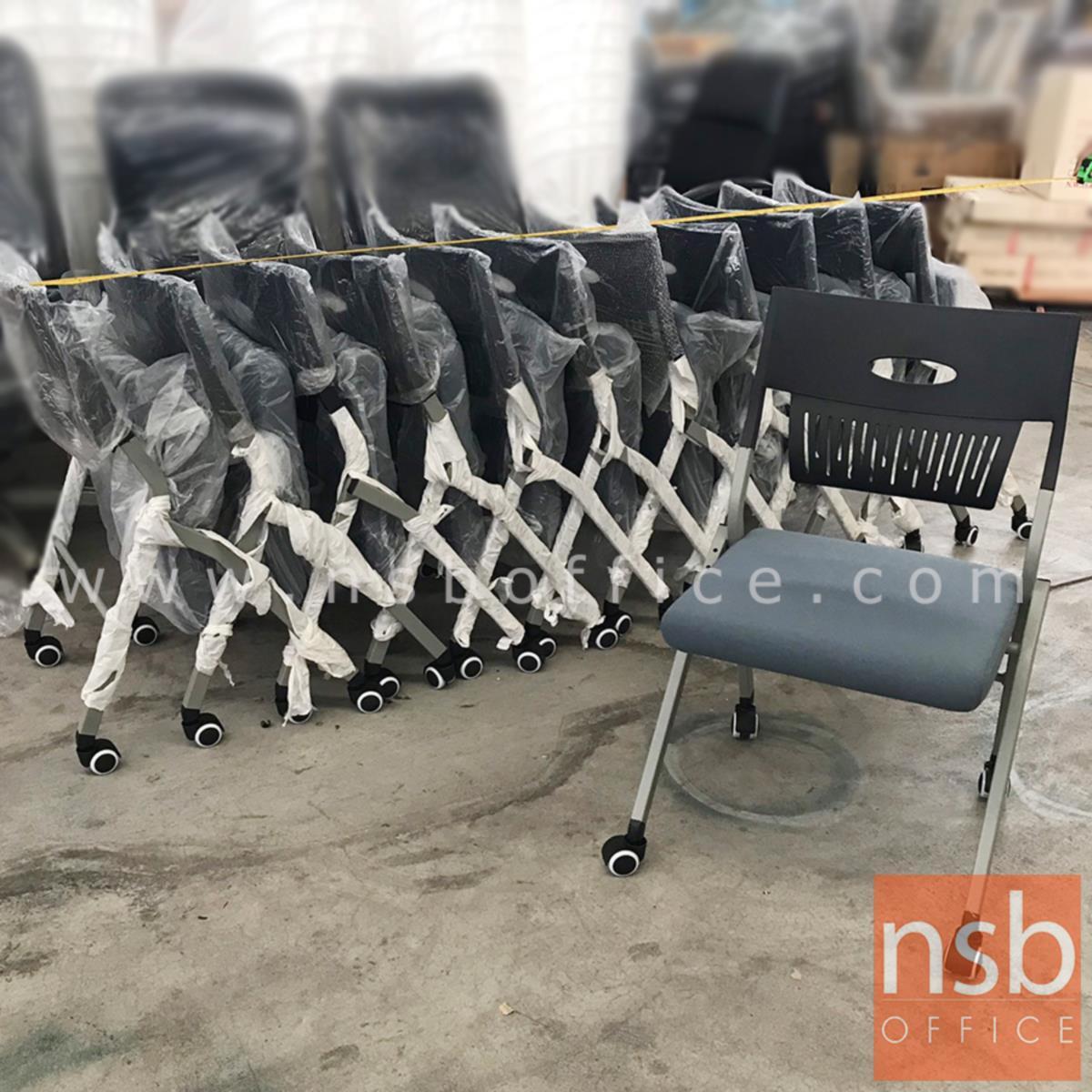 เก้าอี้สำนักงานโพลี่ล้อเลื่อน รุ่น Milton (มิลตัน)  ขาเหล็กพ่นสี