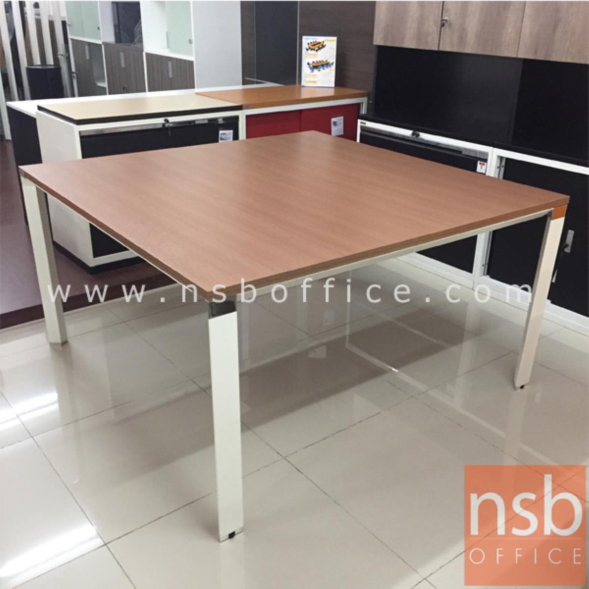 โต๊ะประชุมทรงสี่เหลี่ยม รุ่น Hagrid (ฮากริด) ขนาด 100W ,140W cm. ขาเหล็กสีขาว